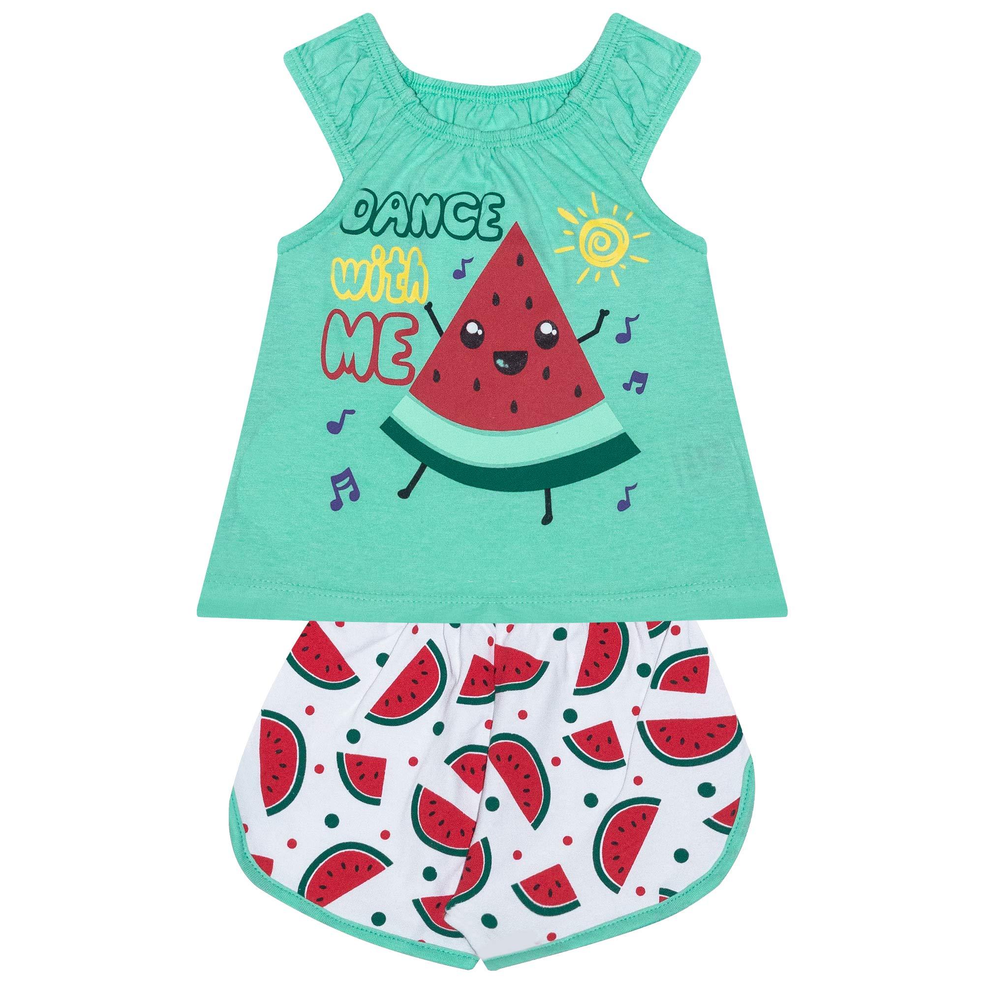 Conjunto Infantil Feminino Melancia - Ref 4801 - Verde - Andritex