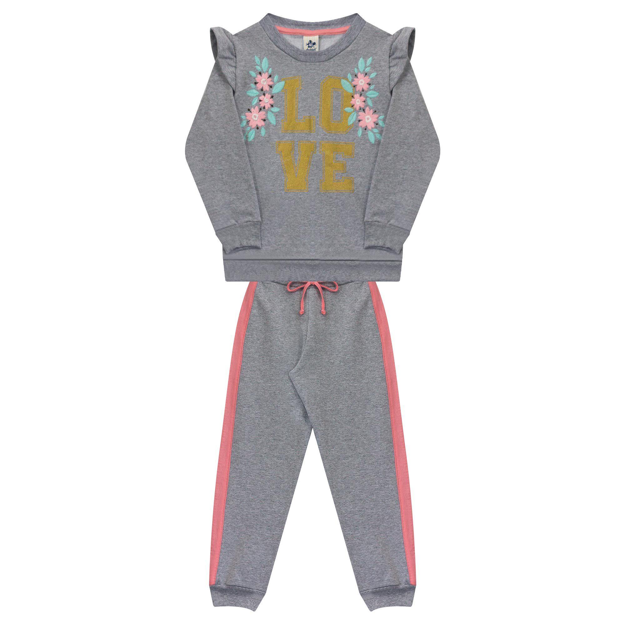 Conjunto Infantil Feminino - Ref 4992 - Mescla