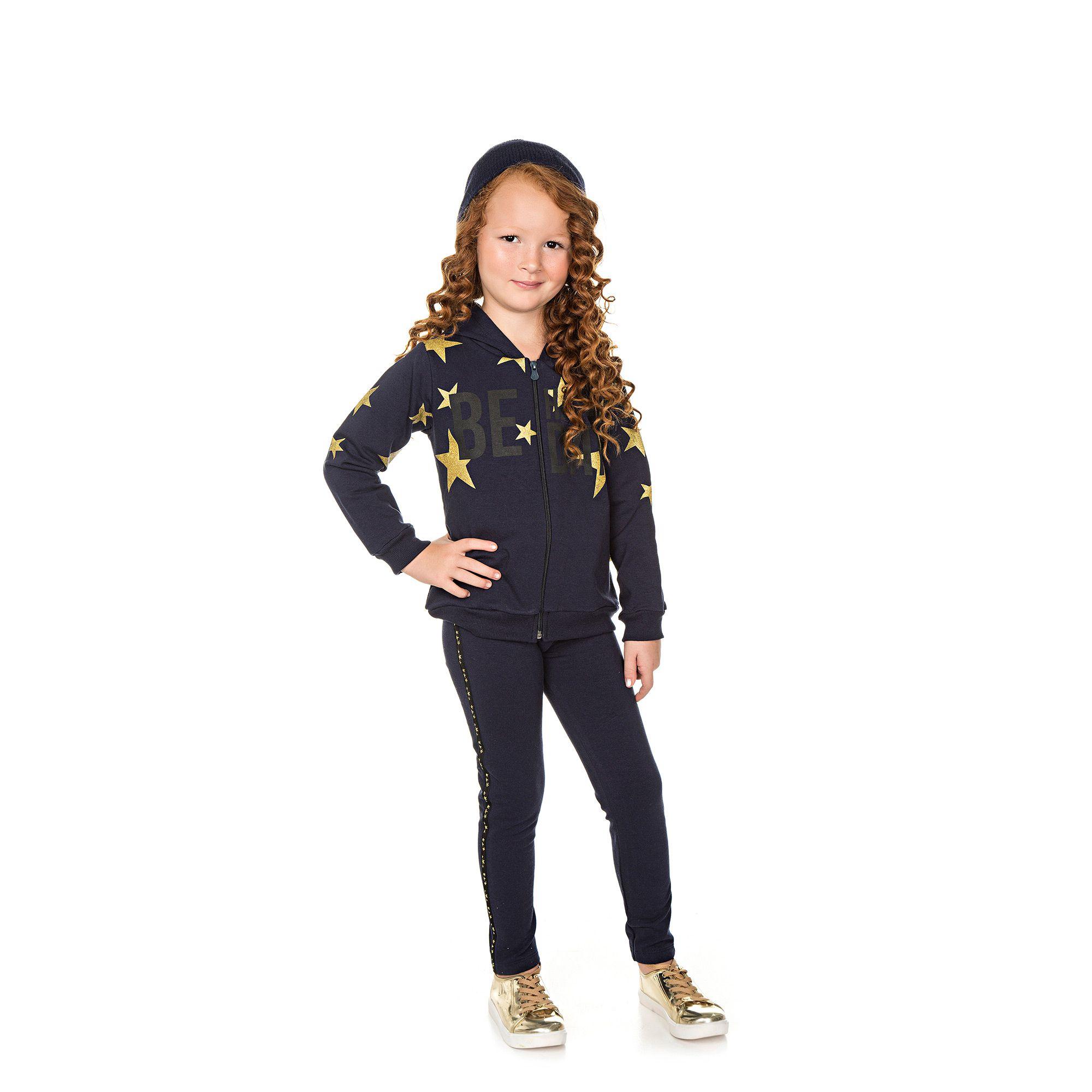 Conjunto Infantil Jaqueta e Legging  - Ref 4995 - Marinho