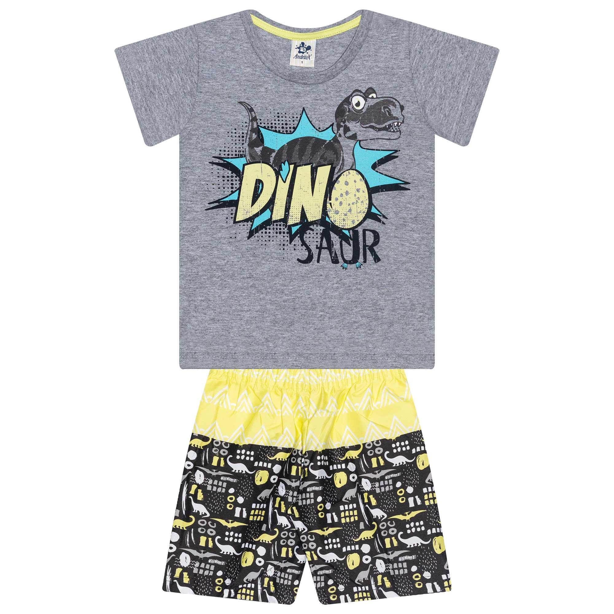 Conjunto Infantil Masculino Dino - Ref 4859 - Mescla - Andritex