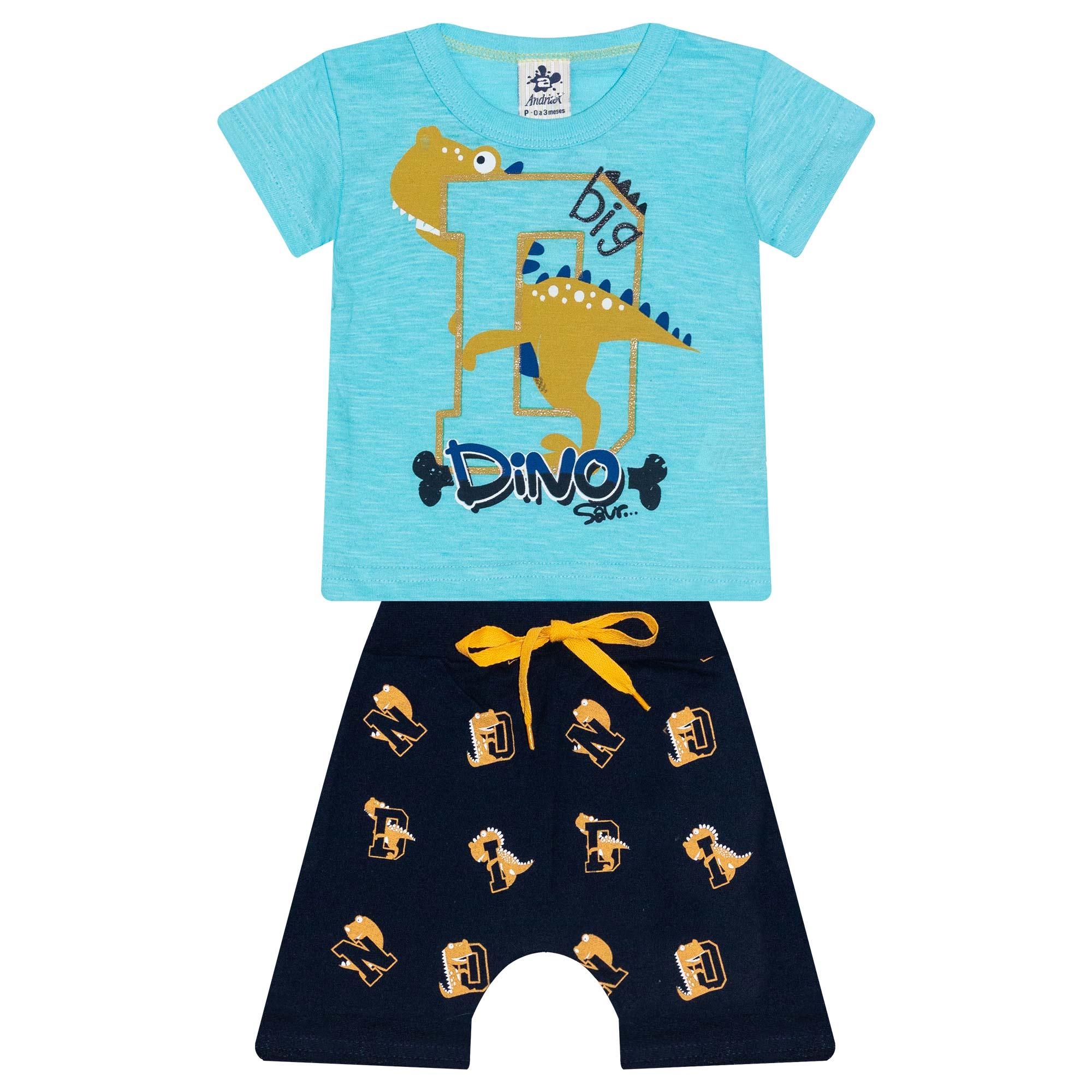 Conjunto Infantil Masculino Dinos Big - Ref 4815 - Azul - Andritex