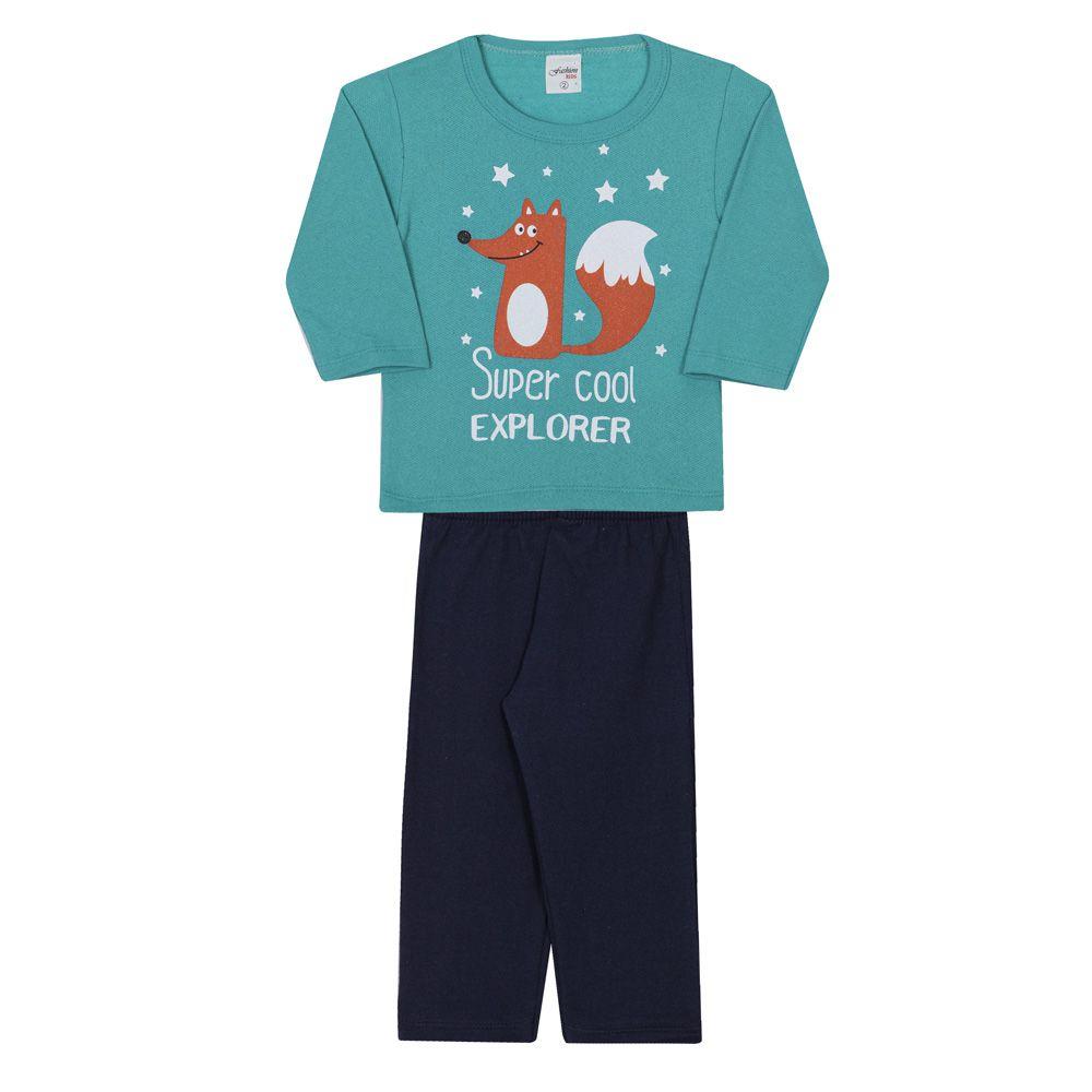 Conjunto Infantil Masculino Fashion Kids Explorer Verde