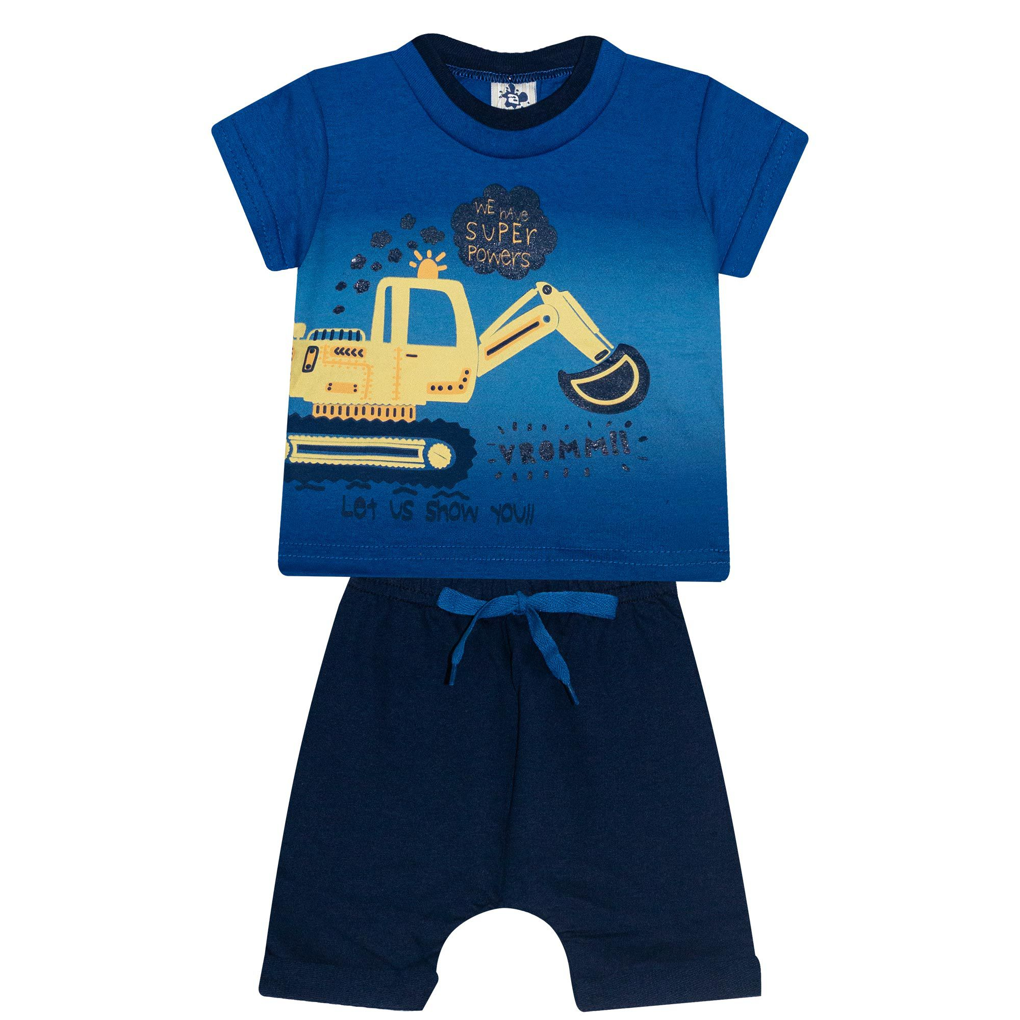 Conjunto Infantil Masculino - Ref 4694 - Azul - Andritex