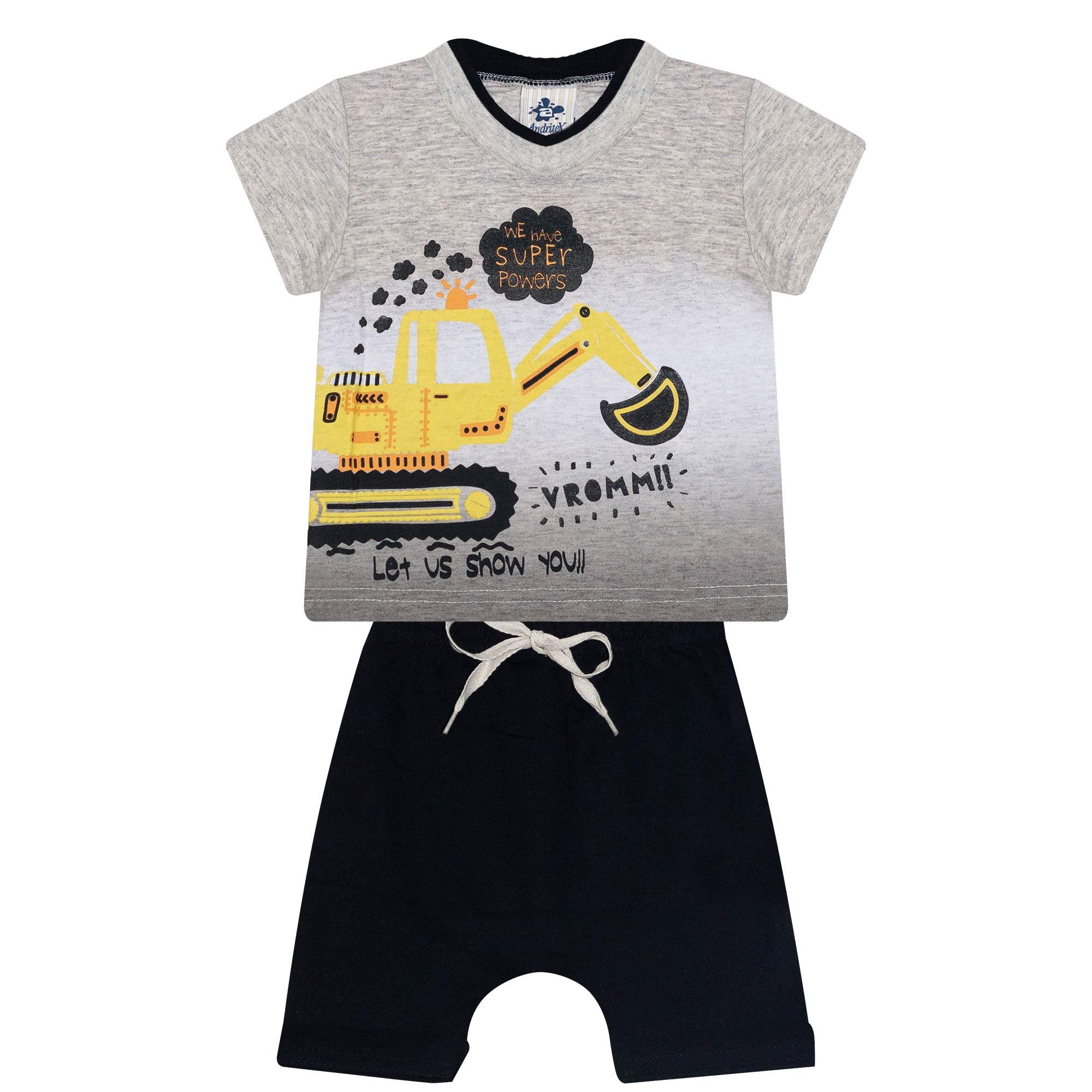 Conjunto Infantil Masculino - Ref 4694 - Mescla Banana - Andritex
