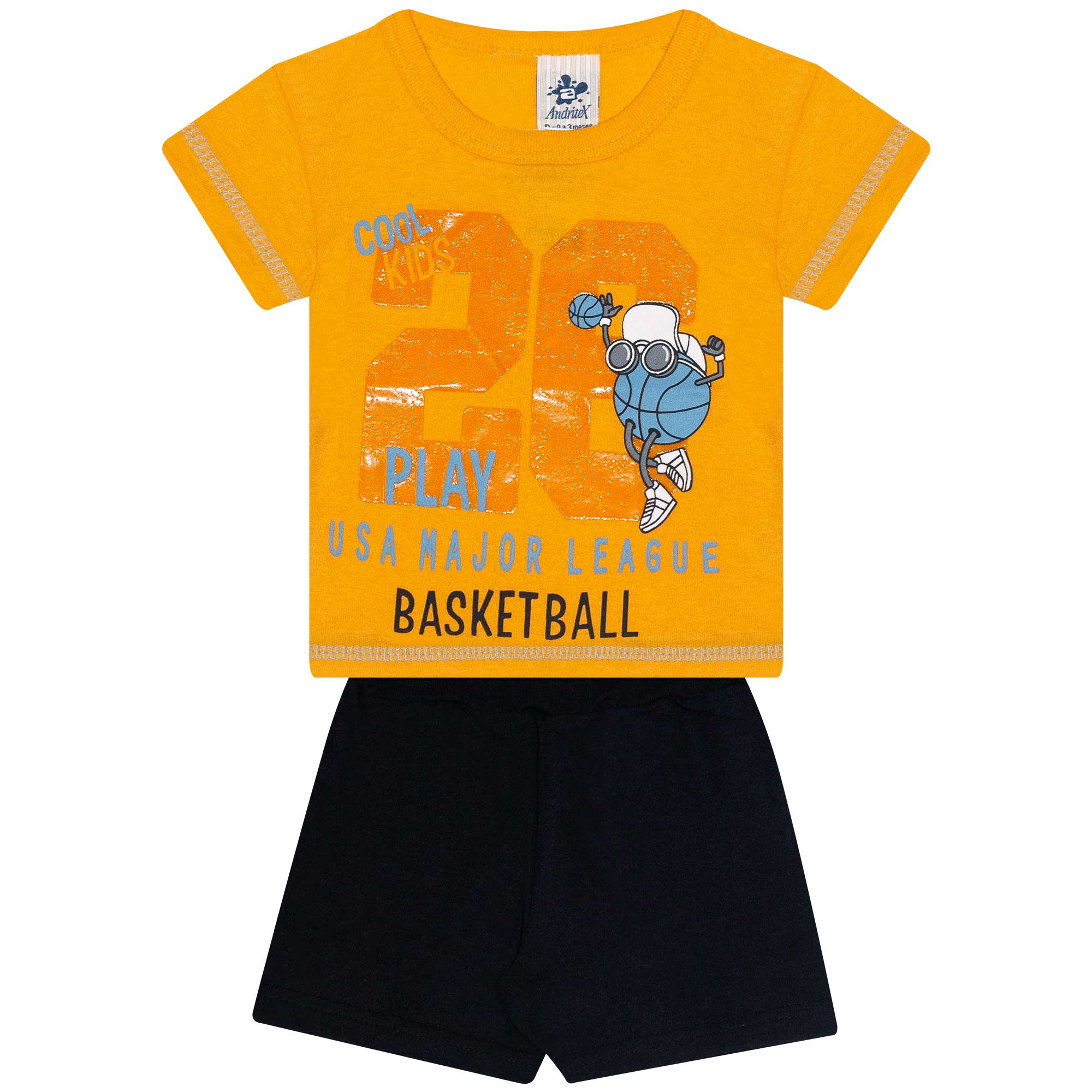 Conjunto Infantil Masculino - Ref 4695 - Amarelo - Andritex