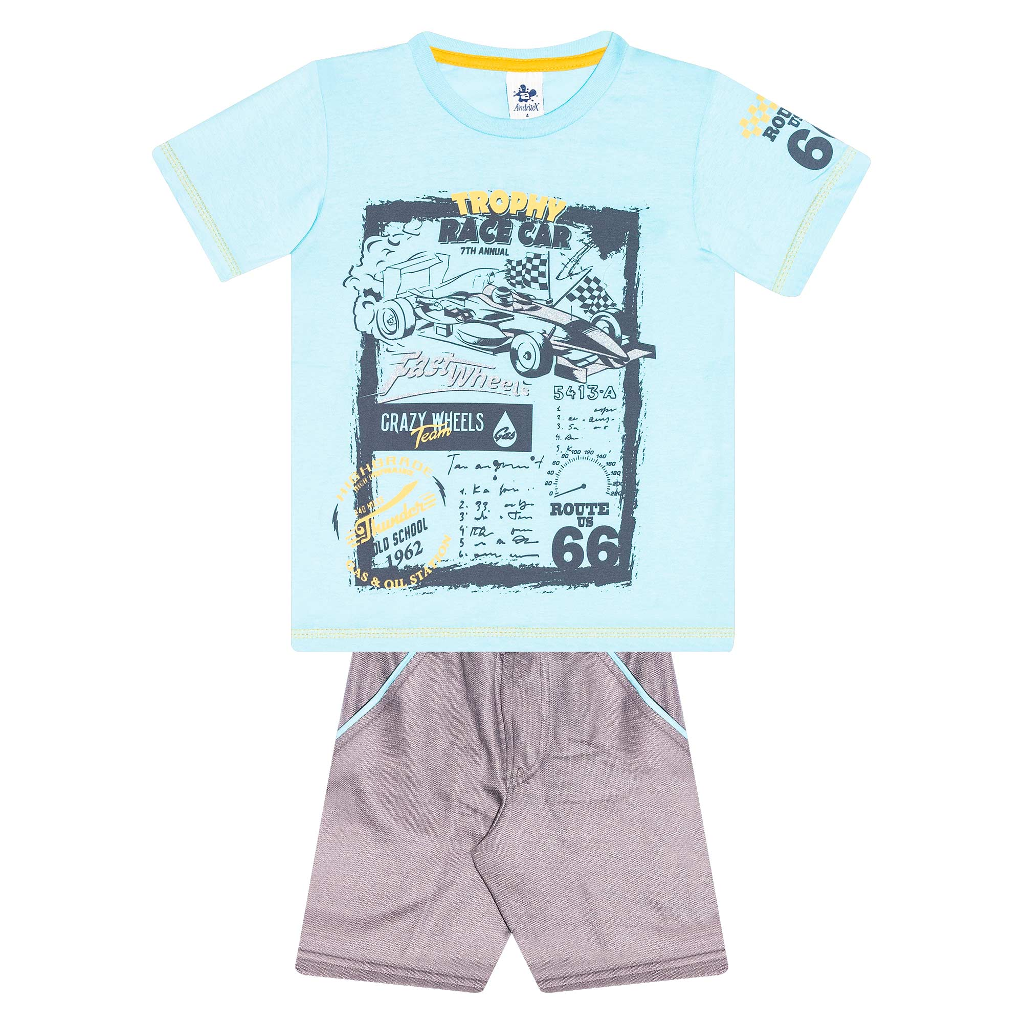 Conjunto Infantil Masculino - Ref 4773  - Azul - Andritex