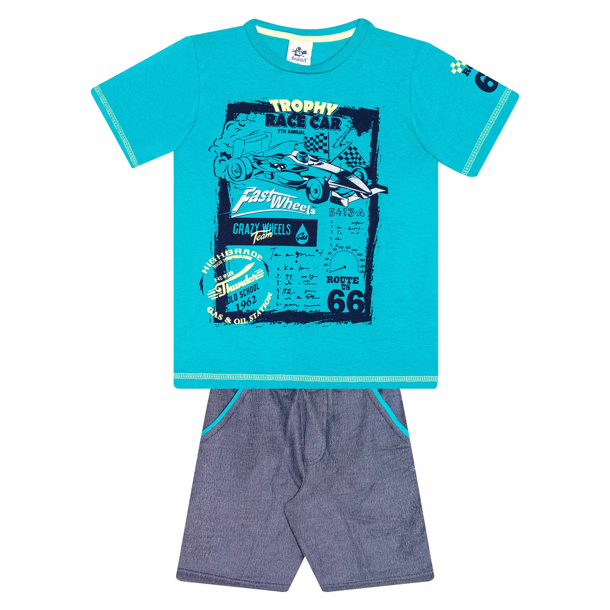 Conjunto Infantil Masculino - Ref 4773  - Verde - Andritex