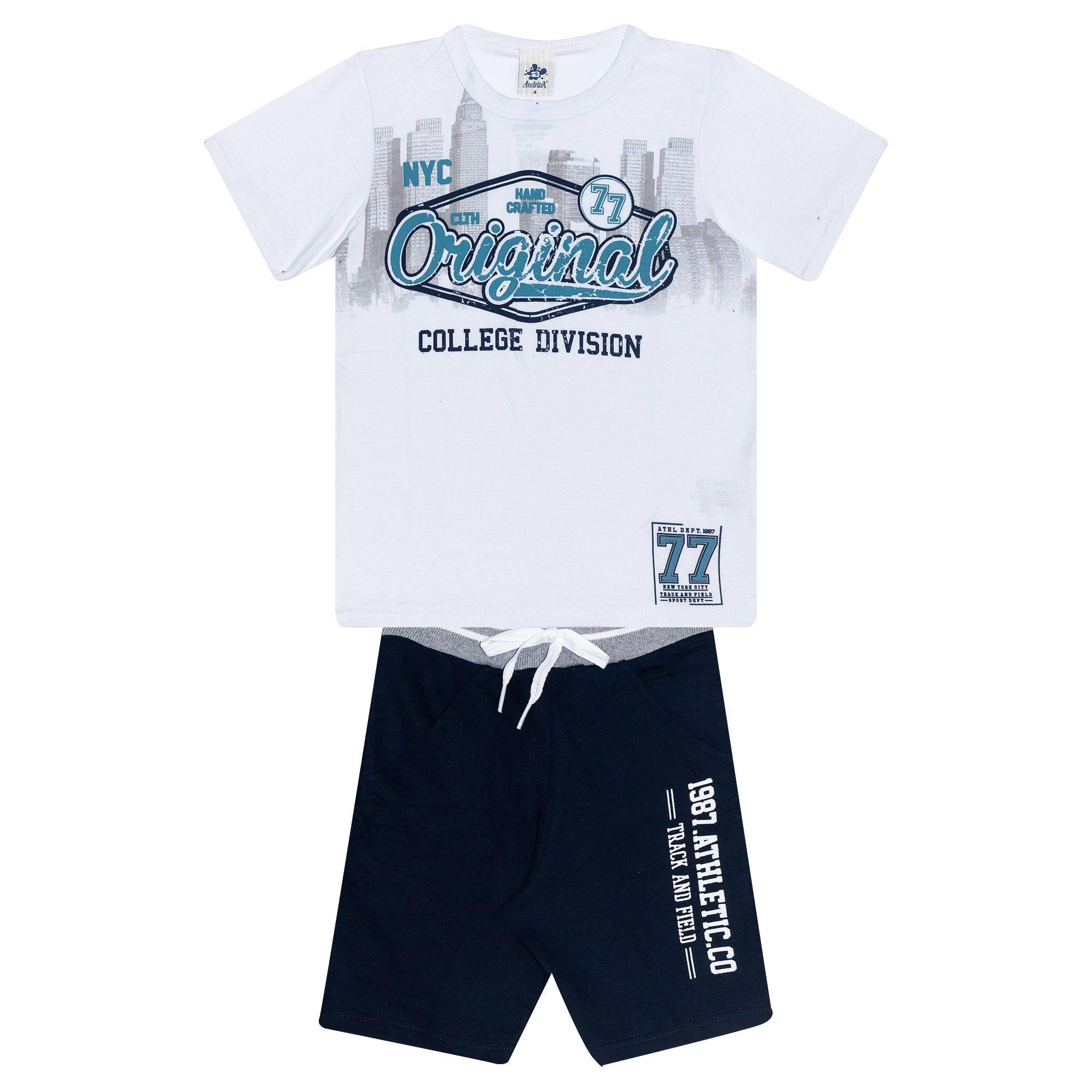 Conjunto Infantil Masculino - Ref 4774  - Branco - Andritex