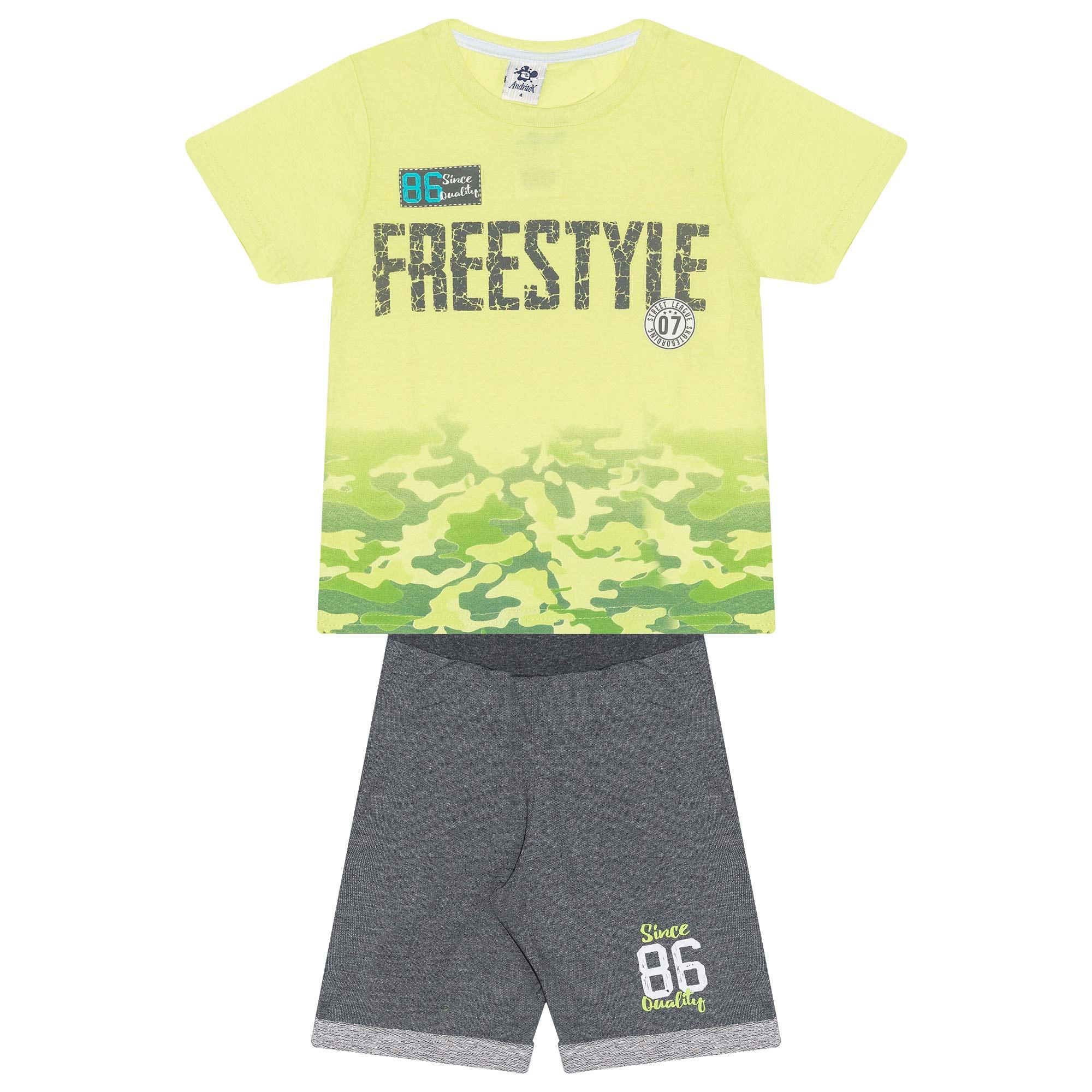 Conjunto Infantil Masculino - Ref 4775  - Verde - Andritex