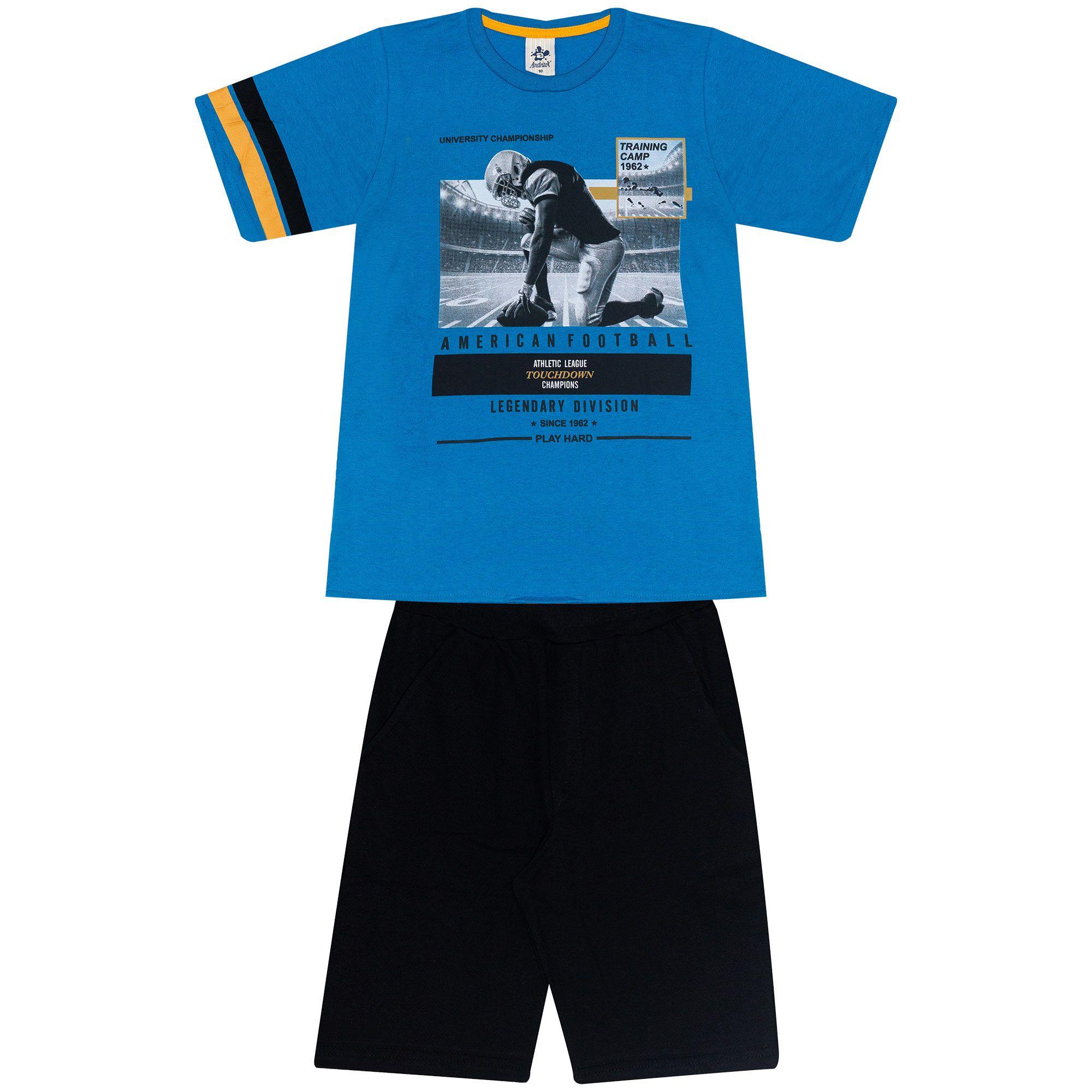 Conjunto Infantil Masculino - Ref 4776  - Azul - Andritex