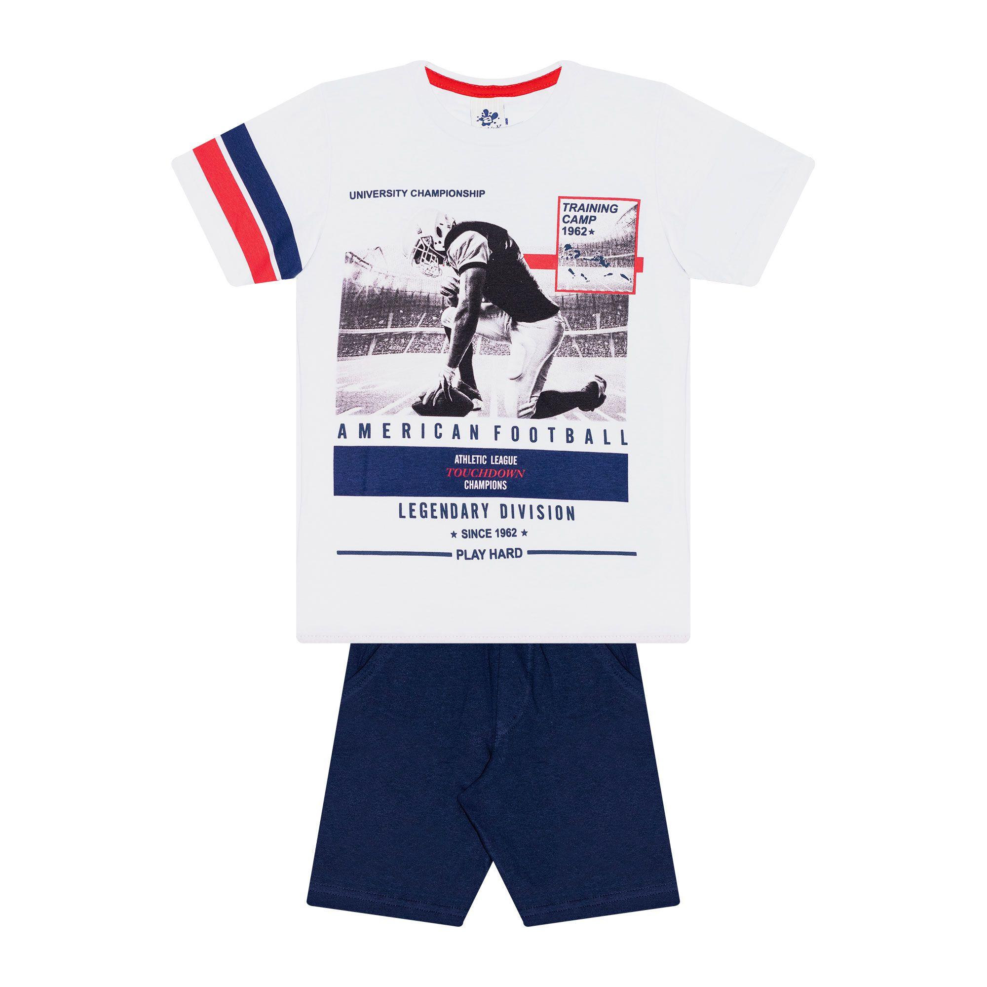 Conjunto Infantil Masculino - Ref 4776  - Branco - Andritex
