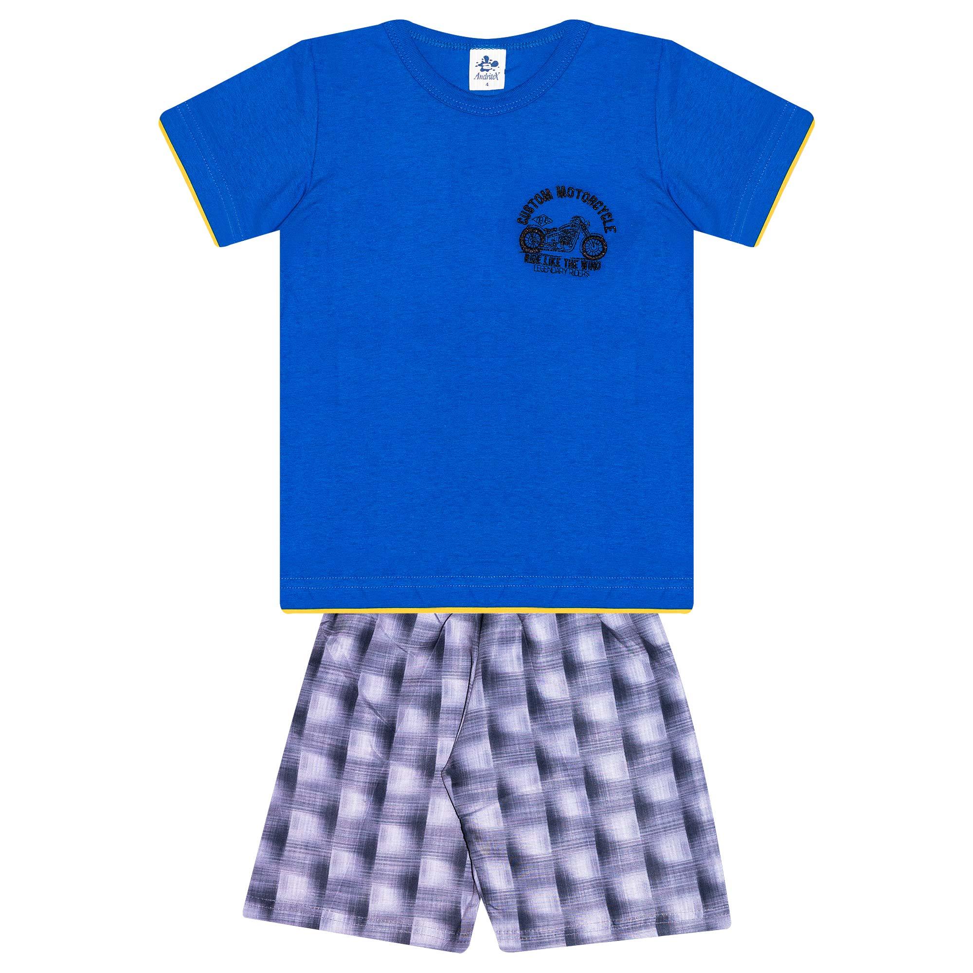 Conjunto Infantil Masculino - Ref 4778  - Azul - Andritex
