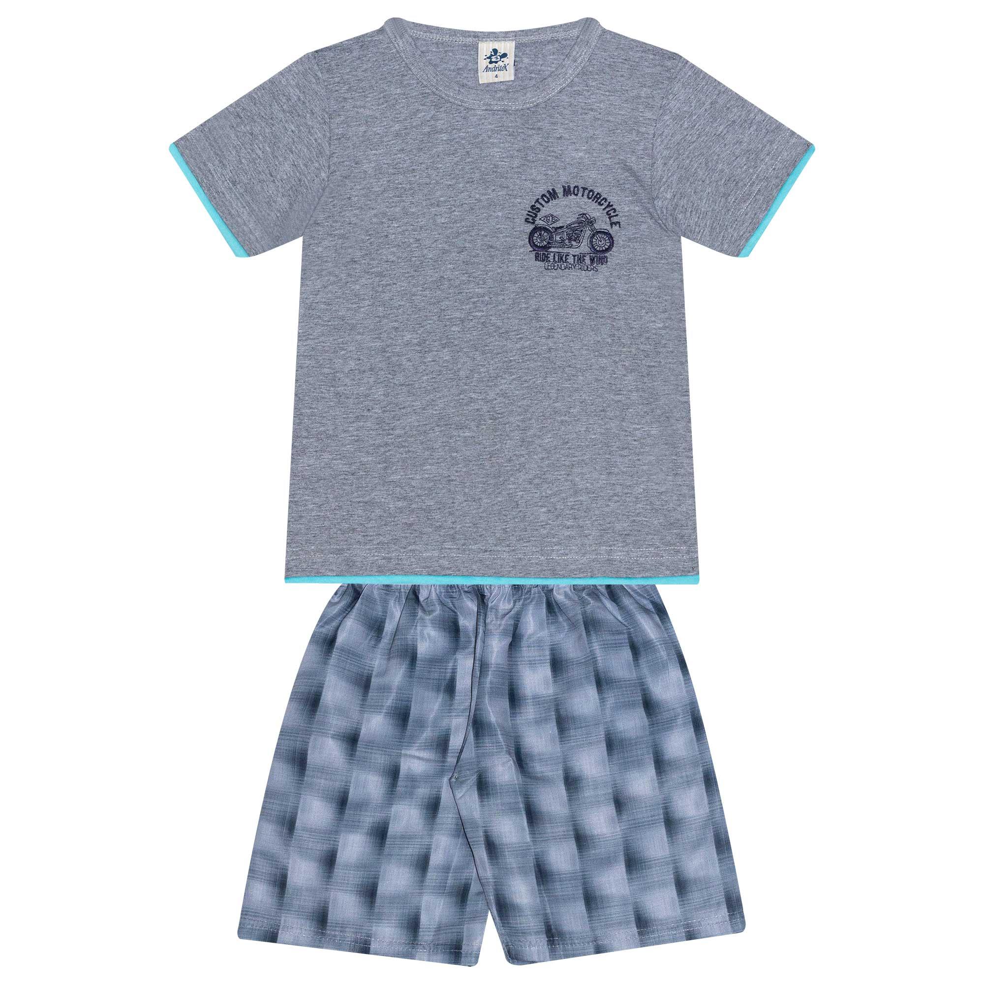 Conjunto Infantil Masculino - Ref 4778  - Mescla - Andritex