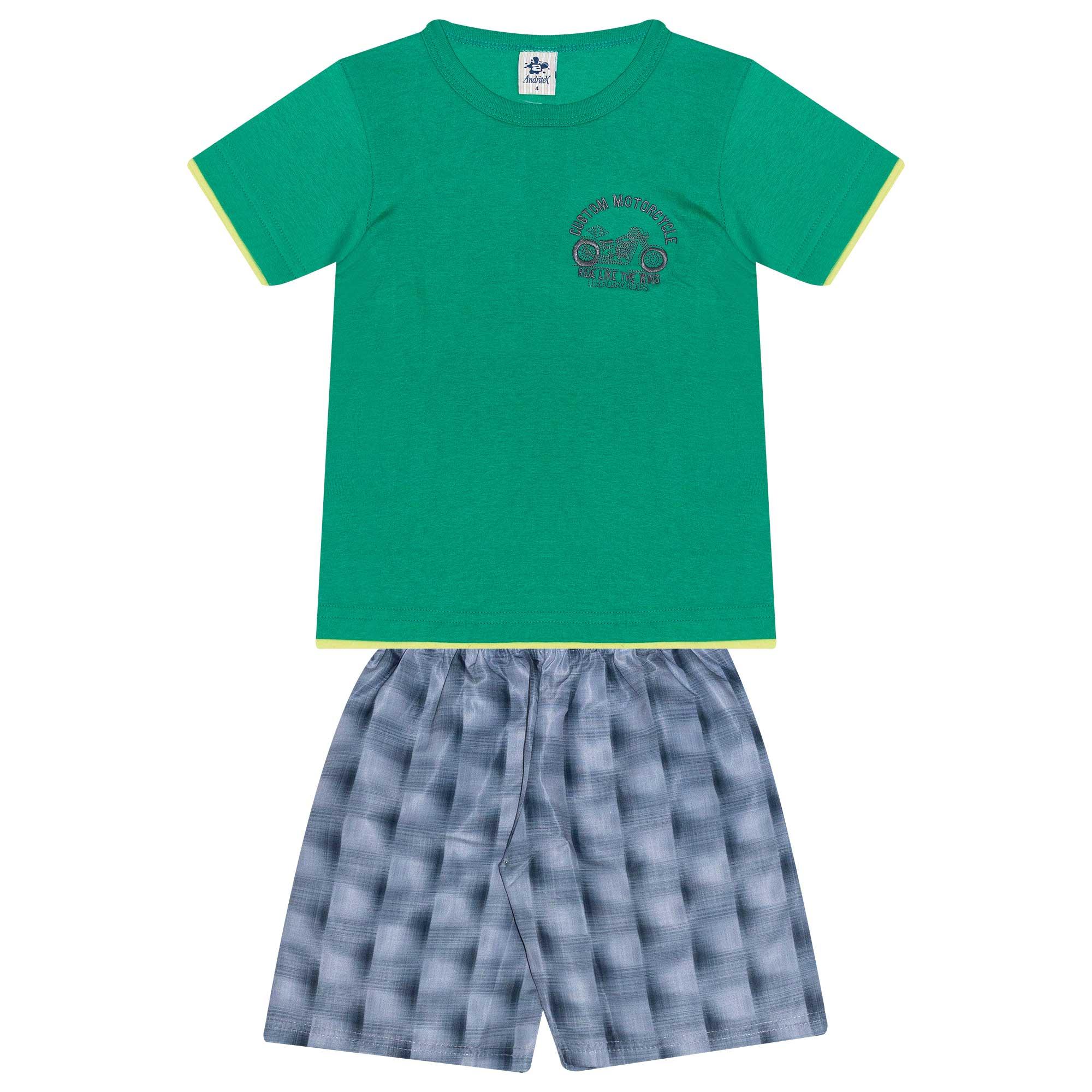 Conjunto Infantil Masculino - Ref 4778  - Verde - Andritex