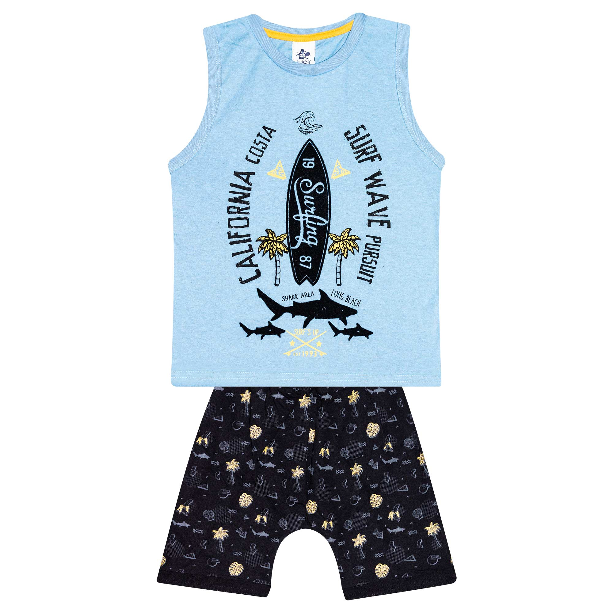 Conjunto Infantil Masculino - Ref 4783  - Azul - Andritex