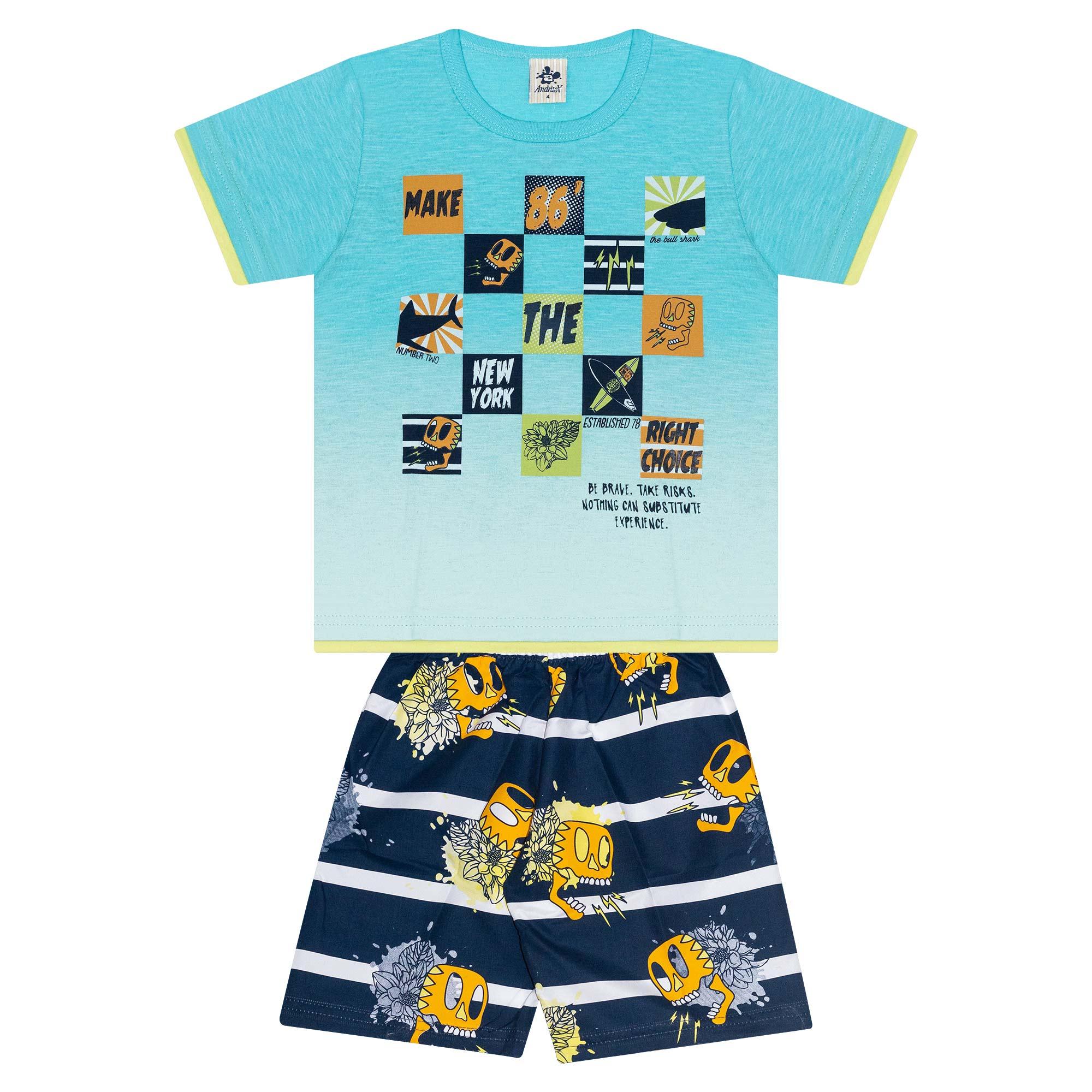 Conjunto Infantil Masculino - Ref 4908 - Azul - Andritex