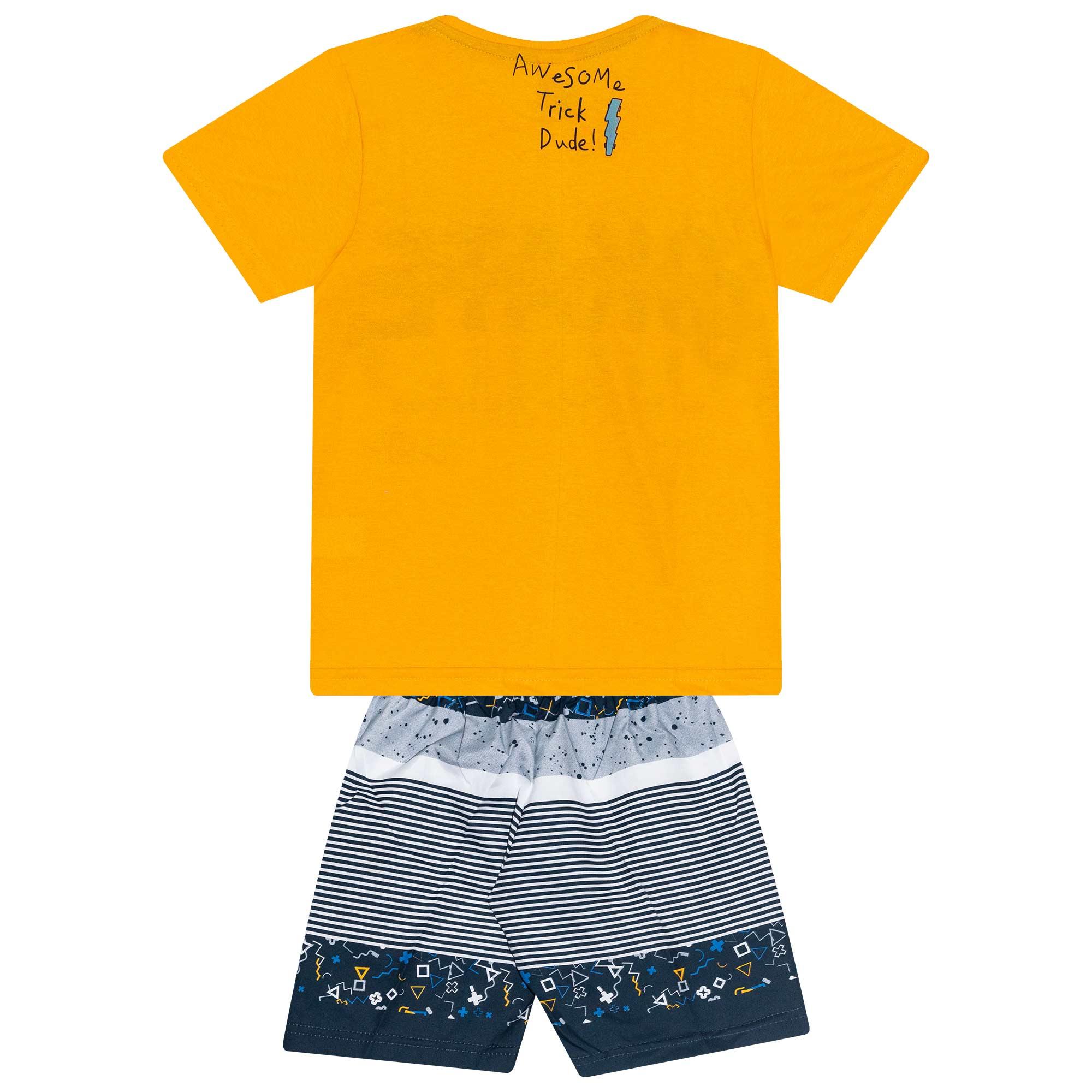 Conjunto Infantil Masculino - Ref 4909 - Amarelo - Andritex