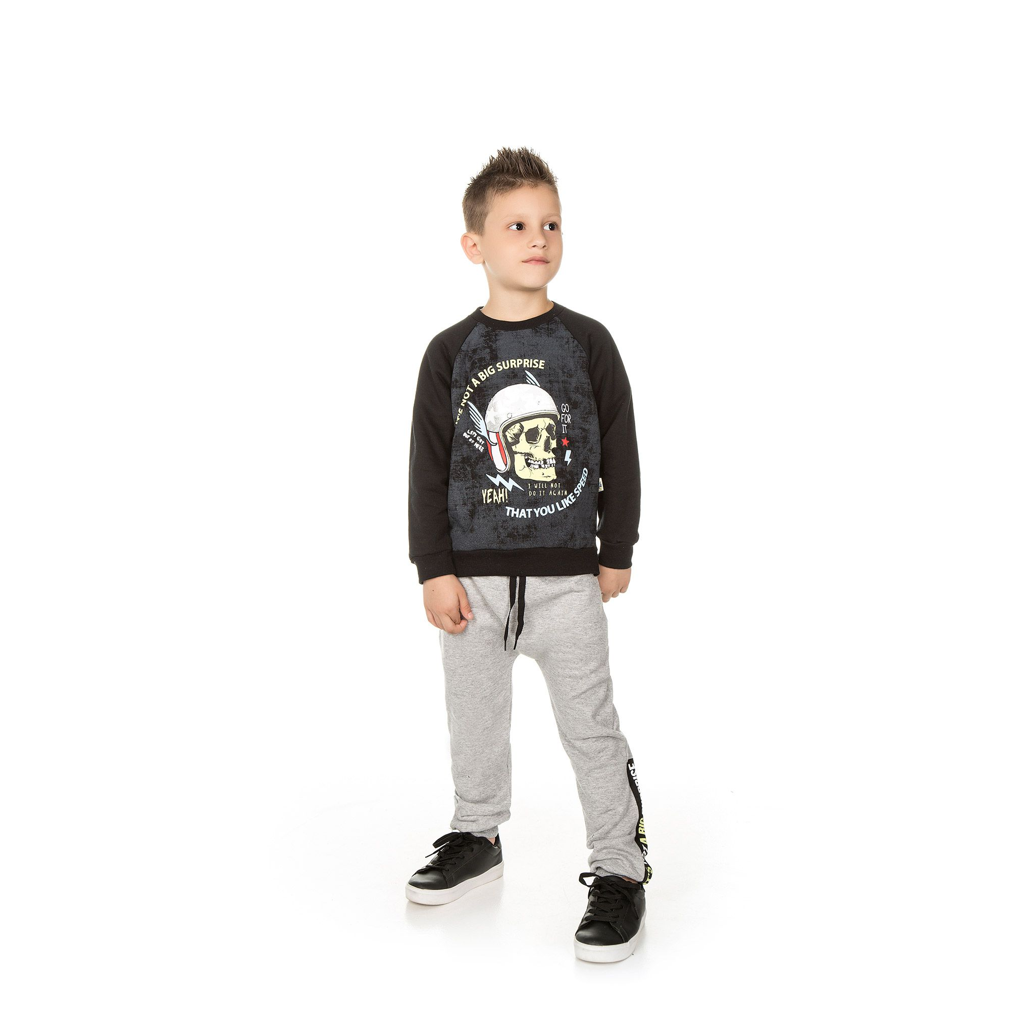 Conjunto Infantil Masculino  - Ref 5013 - Preto/Mescla
