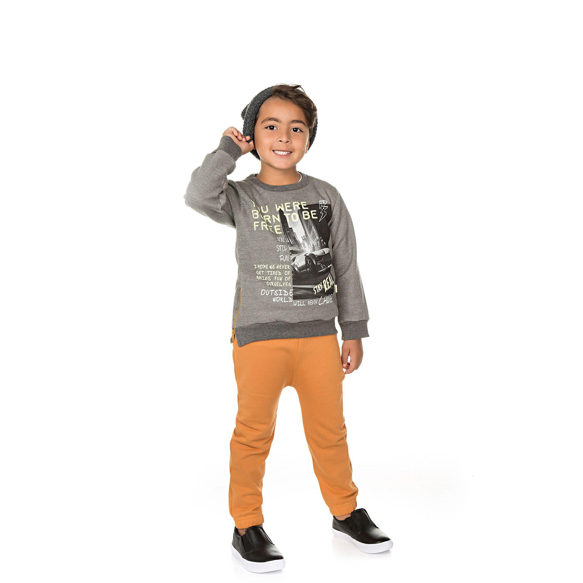 Conjunto Infantil Masculino  - Ref 5014 - Mescla/Amêndoa