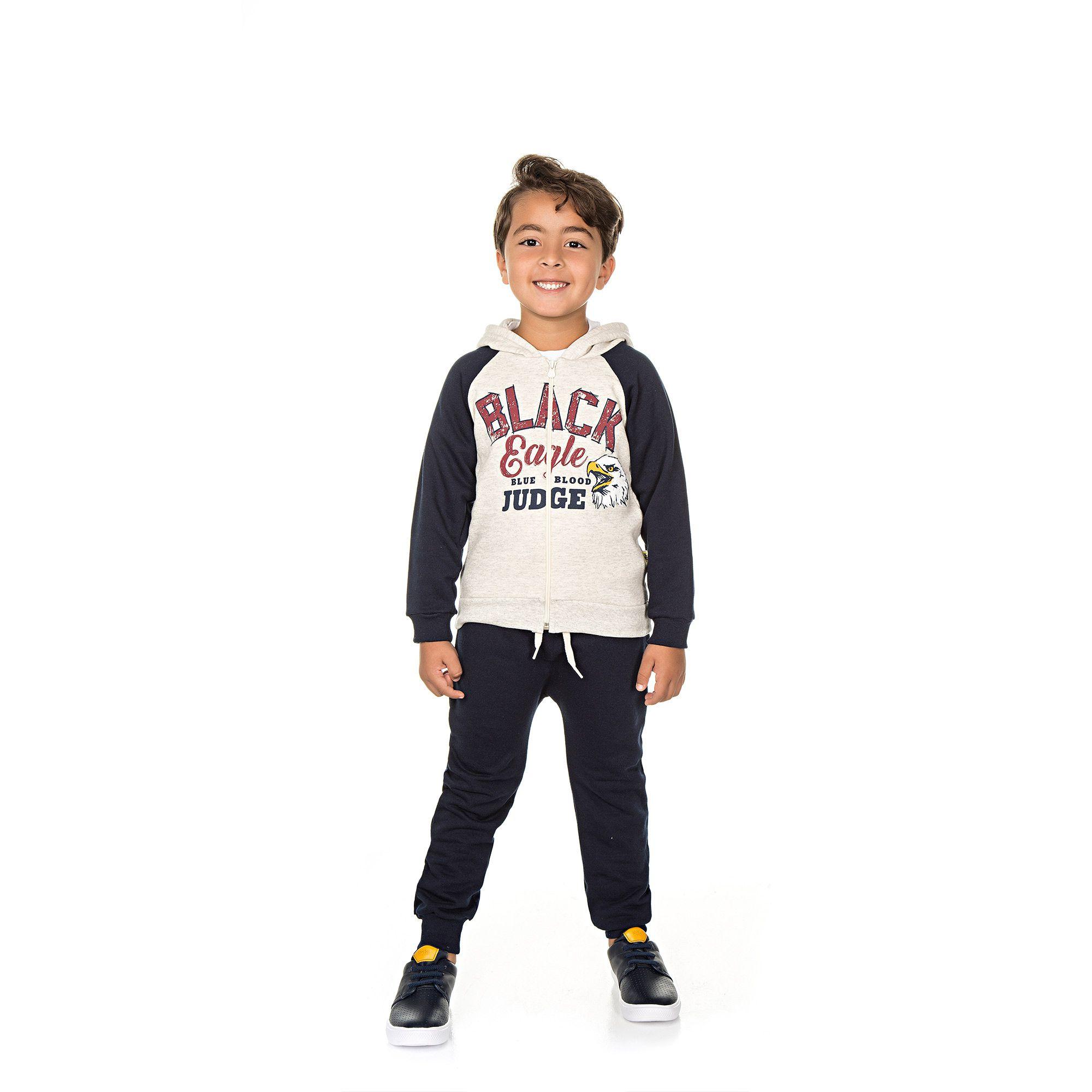 Conjunto Infantil Masculino  - Ref 5017 - Mescla/Marinho