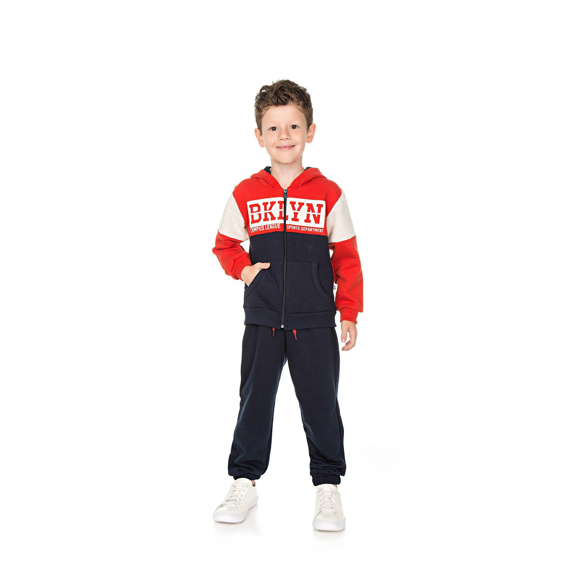 Conjunto Infantil Masculino  - Ref 5018 - Vermelho/Marinho