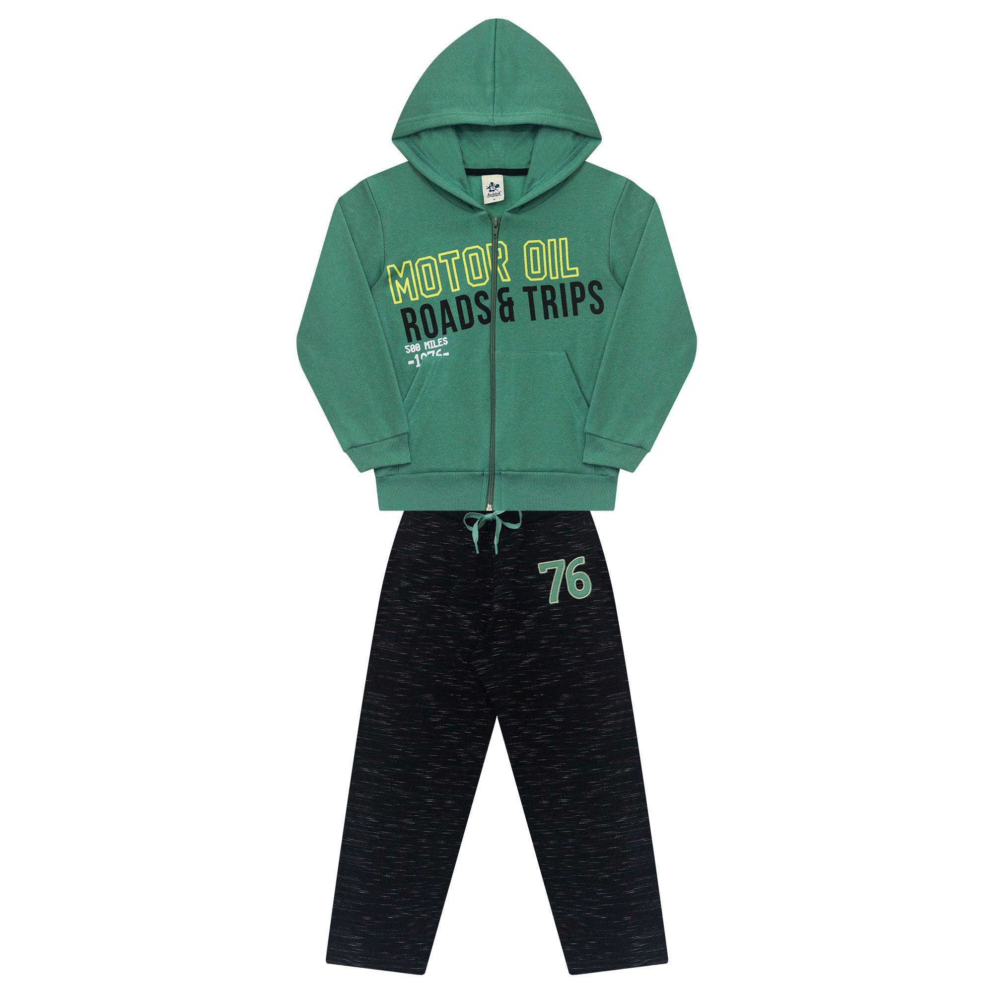 Conjunto Infantil Masculino  - Ref 5019 - Verde Mineral/Preto
