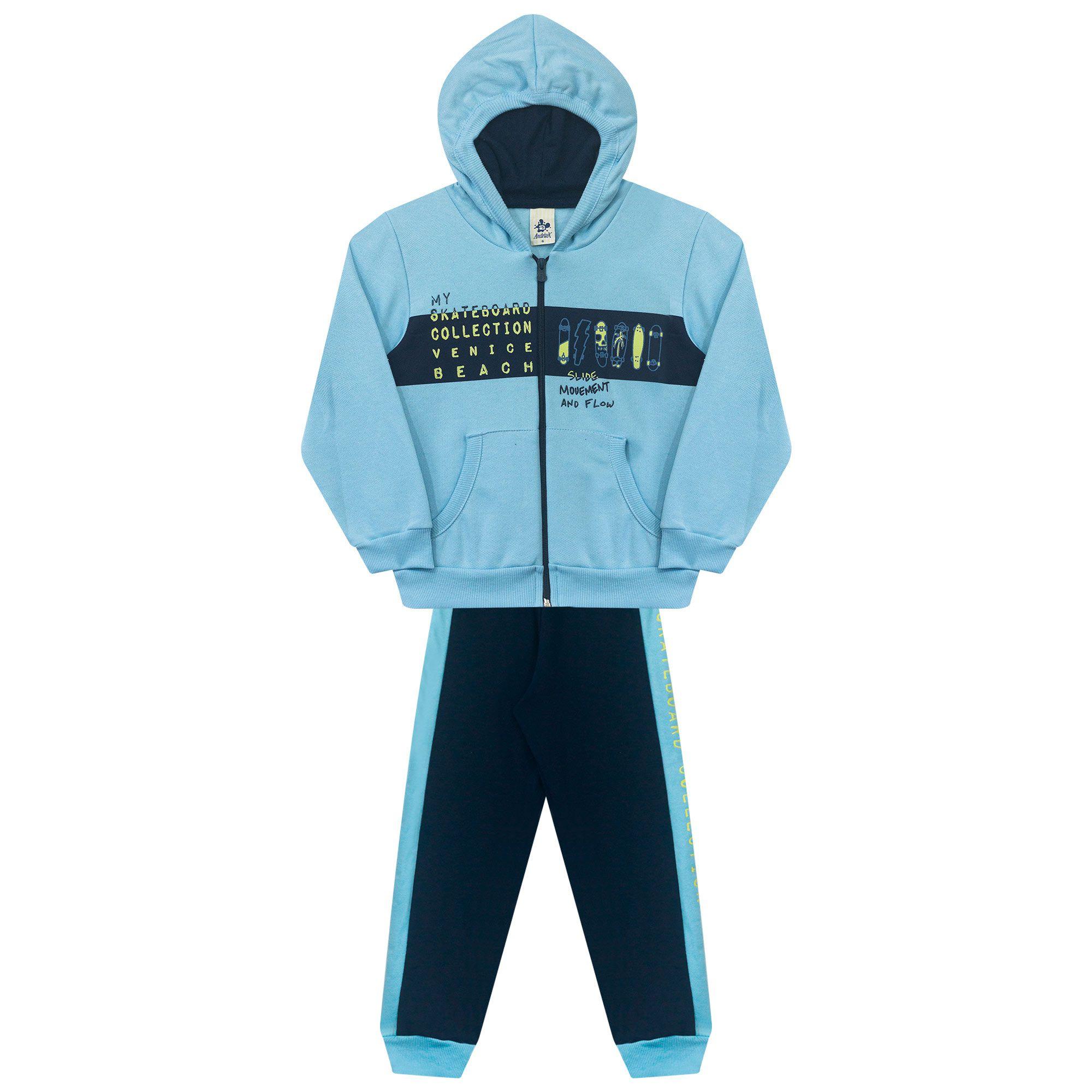 Conjunto Infantil Masculino  - Ref 5020 - Céu Azul/Marinho