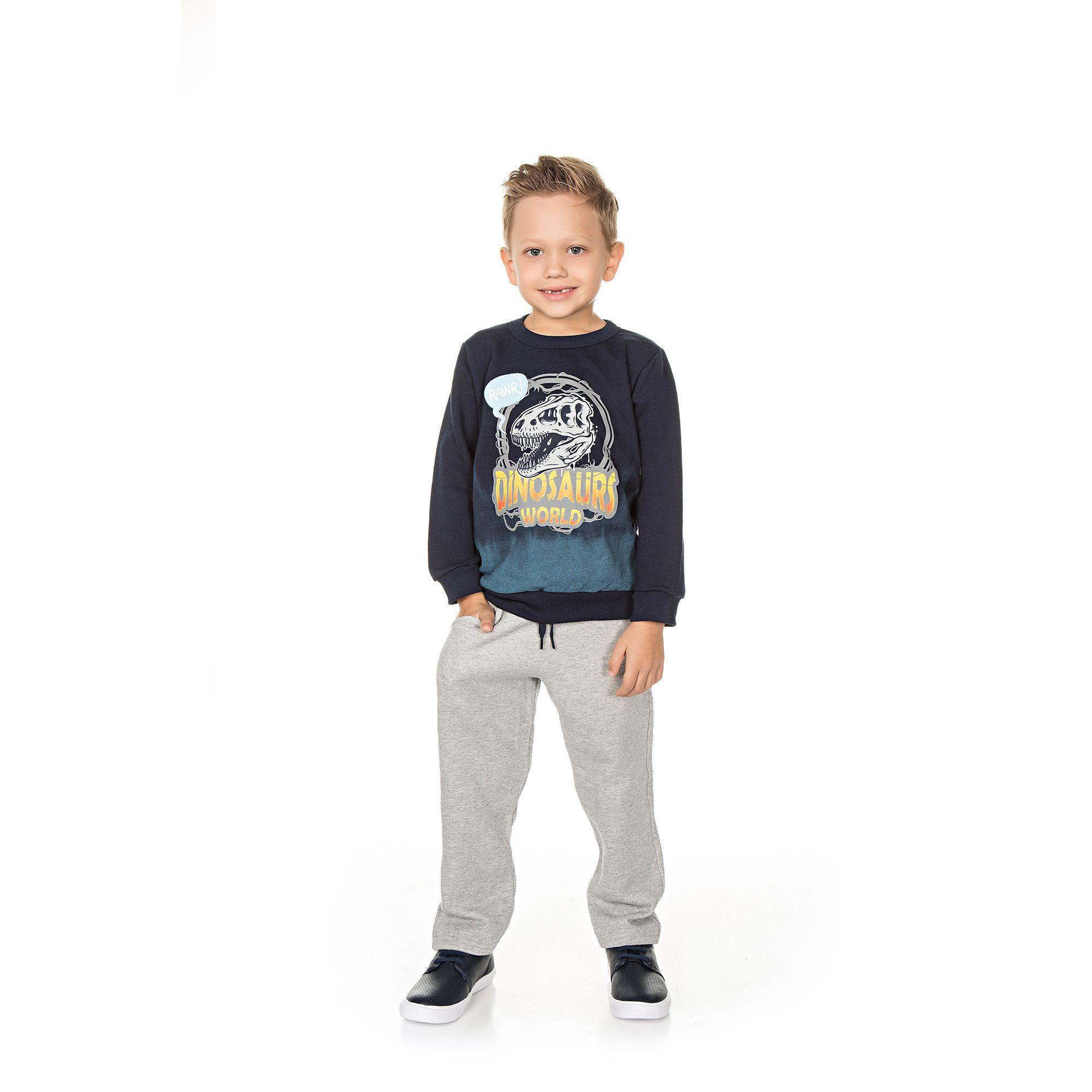 Conjunto Infantil Masculino  - Ref 5022 - Marinho/Mescla