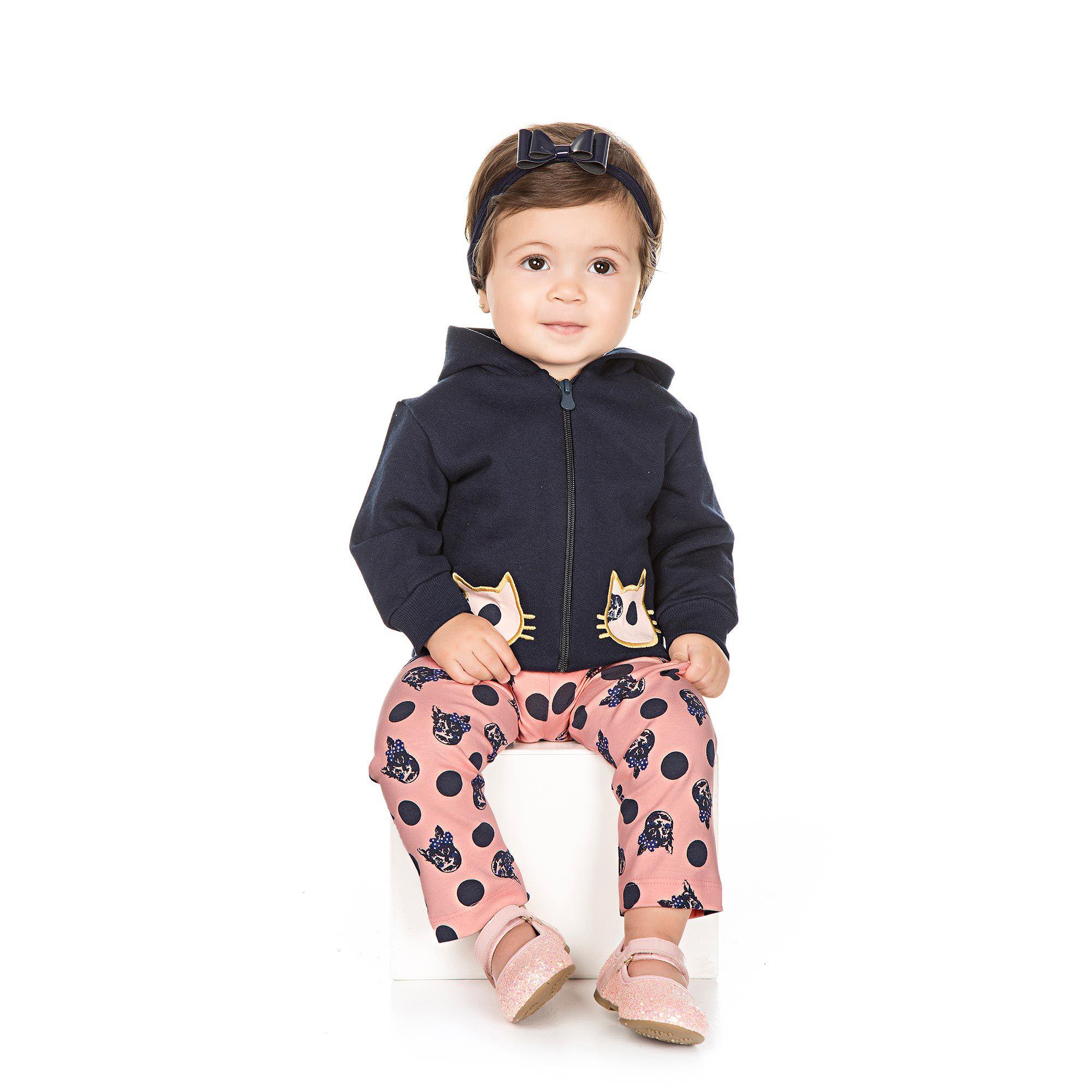 Conjunto Infantil para Bebê 2 peças - Ref 4932 - Marinho/E32