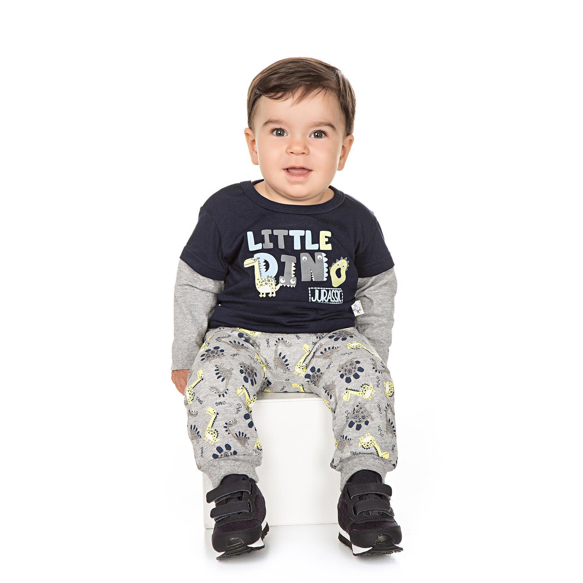 Conjunto Infantil para Bebê 2 peças - Ref 4948 - Marinho/Mescla