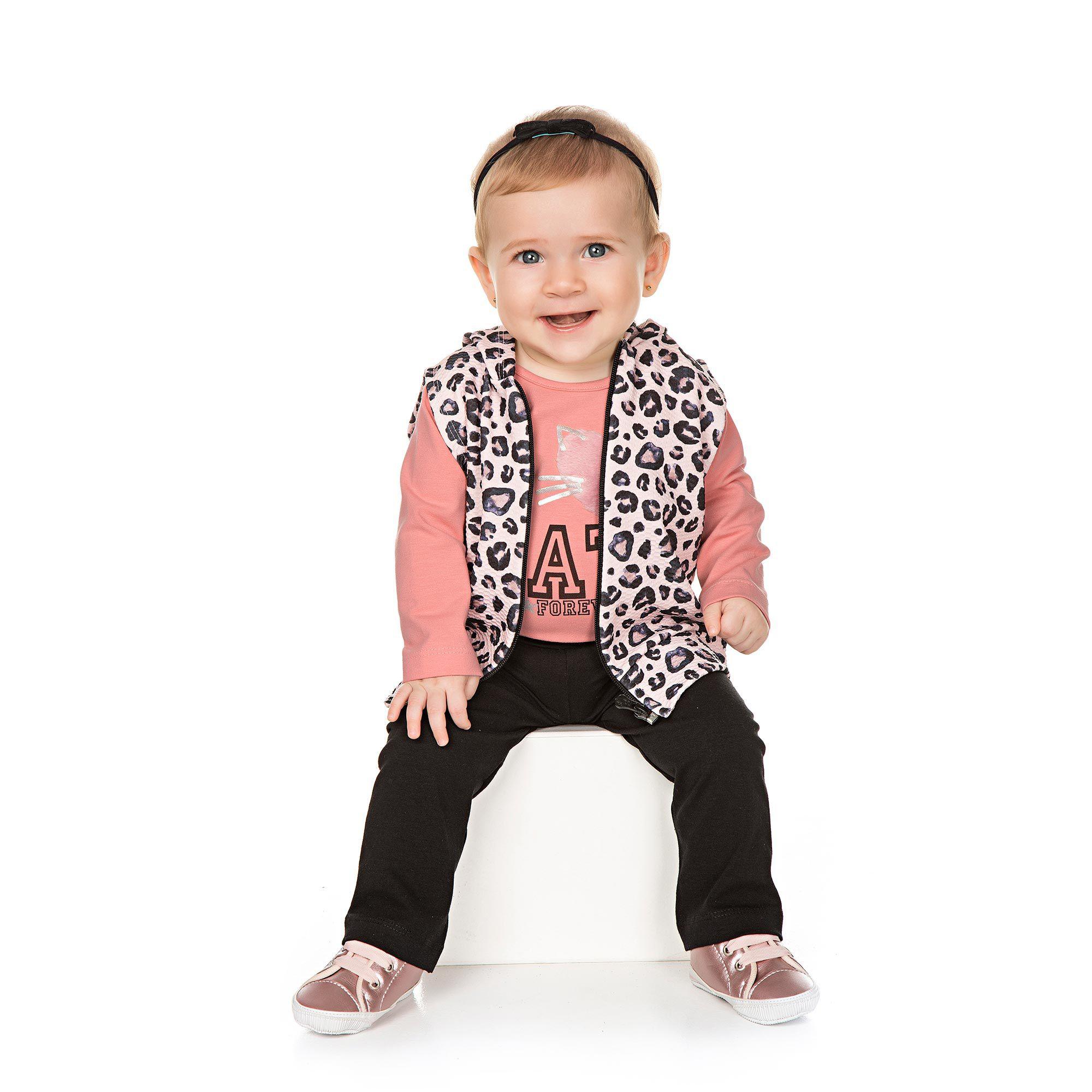 Conjunto Infantil para Bebê 3 peças - Ref 4935 - Tutti Frutti/ME01