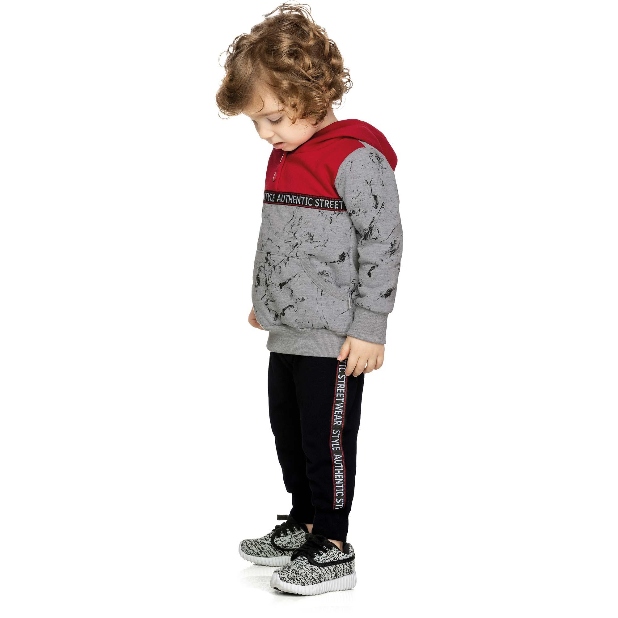 Conjunto Masculino Infantil Elian com Blusão e Calça  - Ref 22882