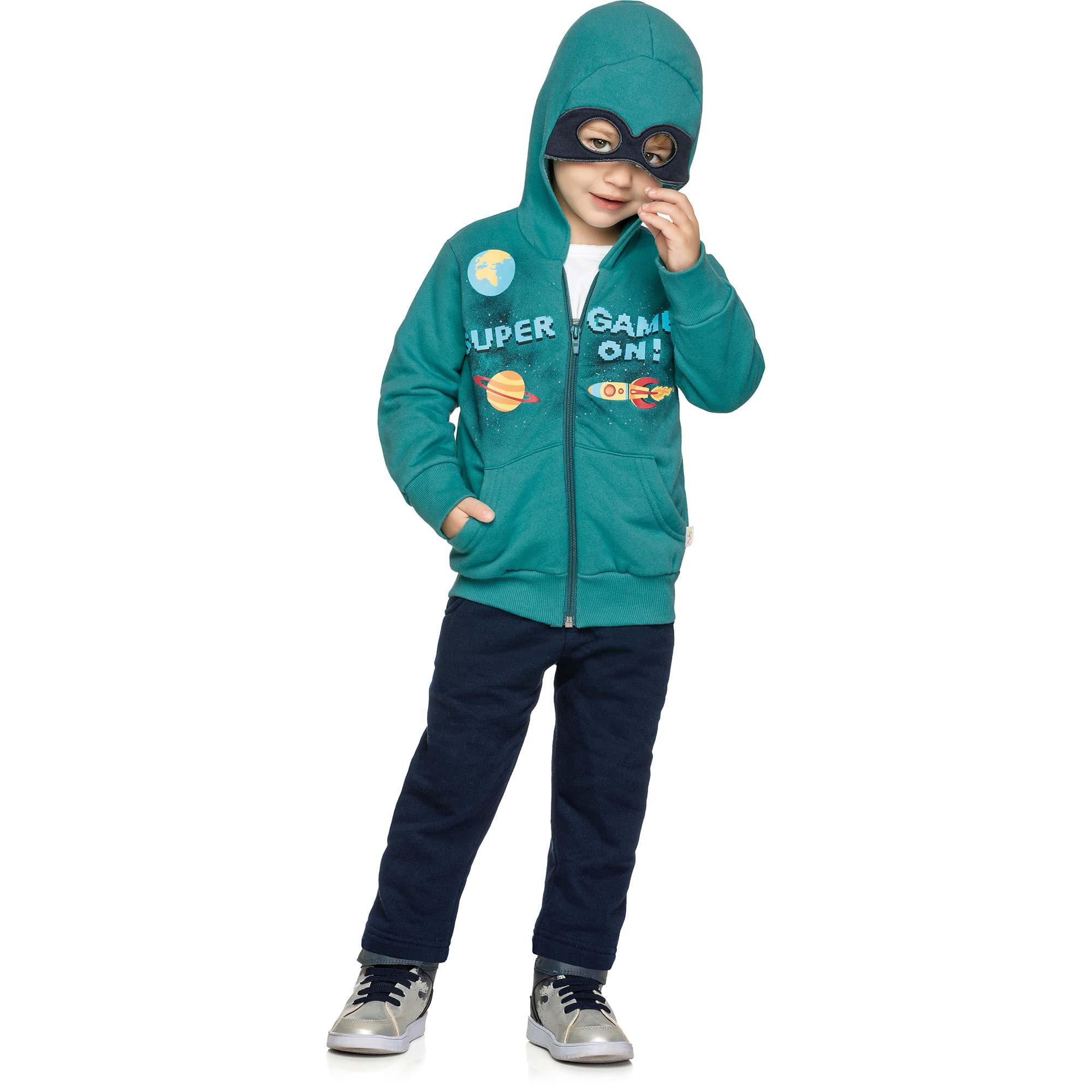 Conjunto Masculino Infantil Elian com Jaqueta e Calça - Ref 22863 - Verde