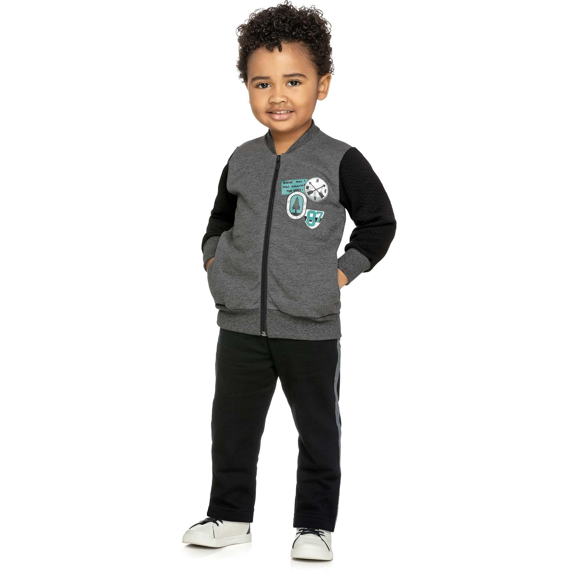Conjunto Masculino Infantil Elian com Jaqueta e Calça  - Ref 22883