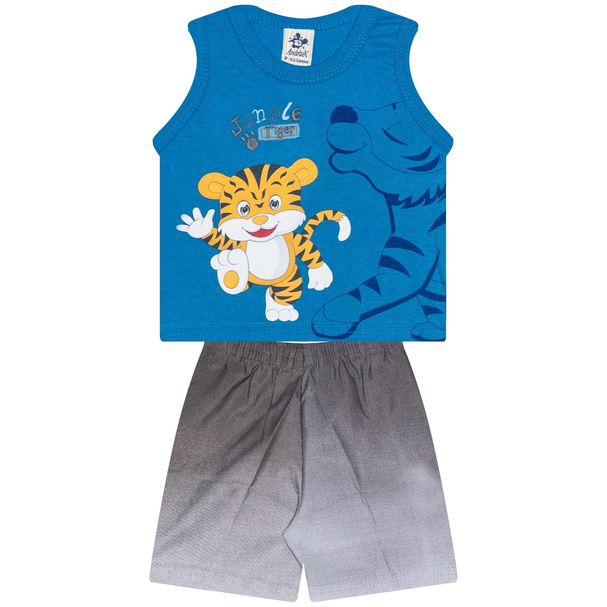 Conjunto Regata Infantil Masculino - Ref 4700  - Azul - Andritex