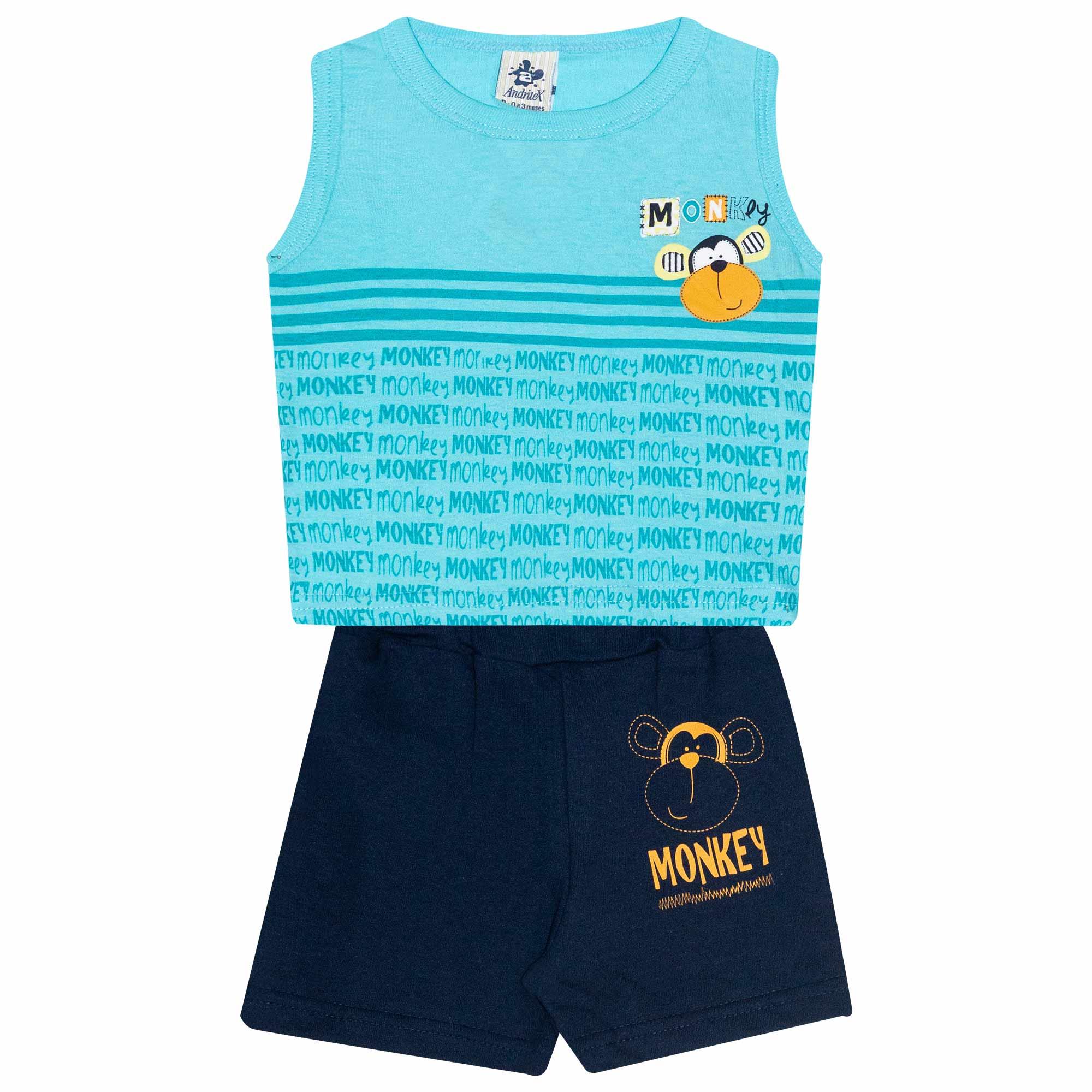Conjunto Regata Infantil Masculino - Ref 4701  - Azul - Andritex
