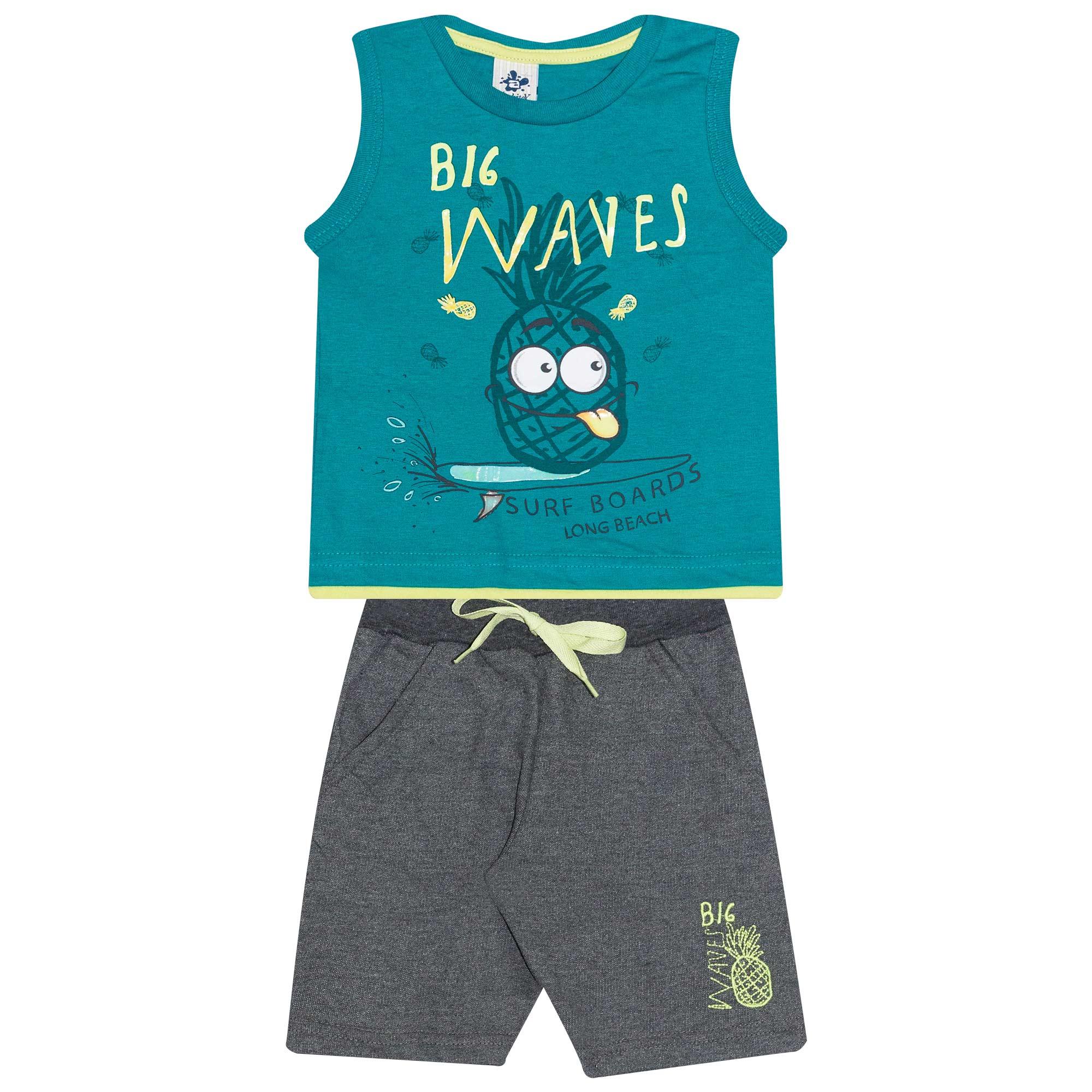 Conjunto Regata Infantil Masculino - Ref 4737  - Verde - Andritex
