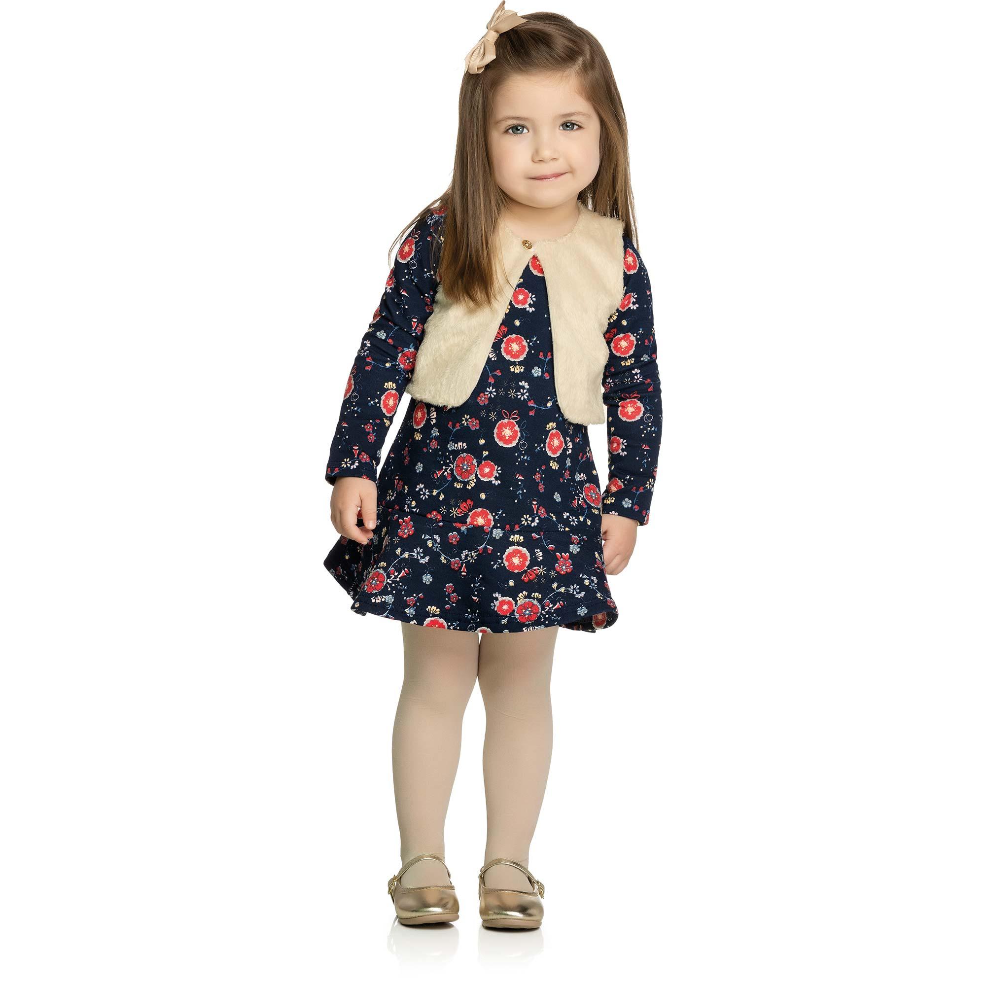 Conjunto Vestido Infantil Elian - Ref 231172 - Marinho