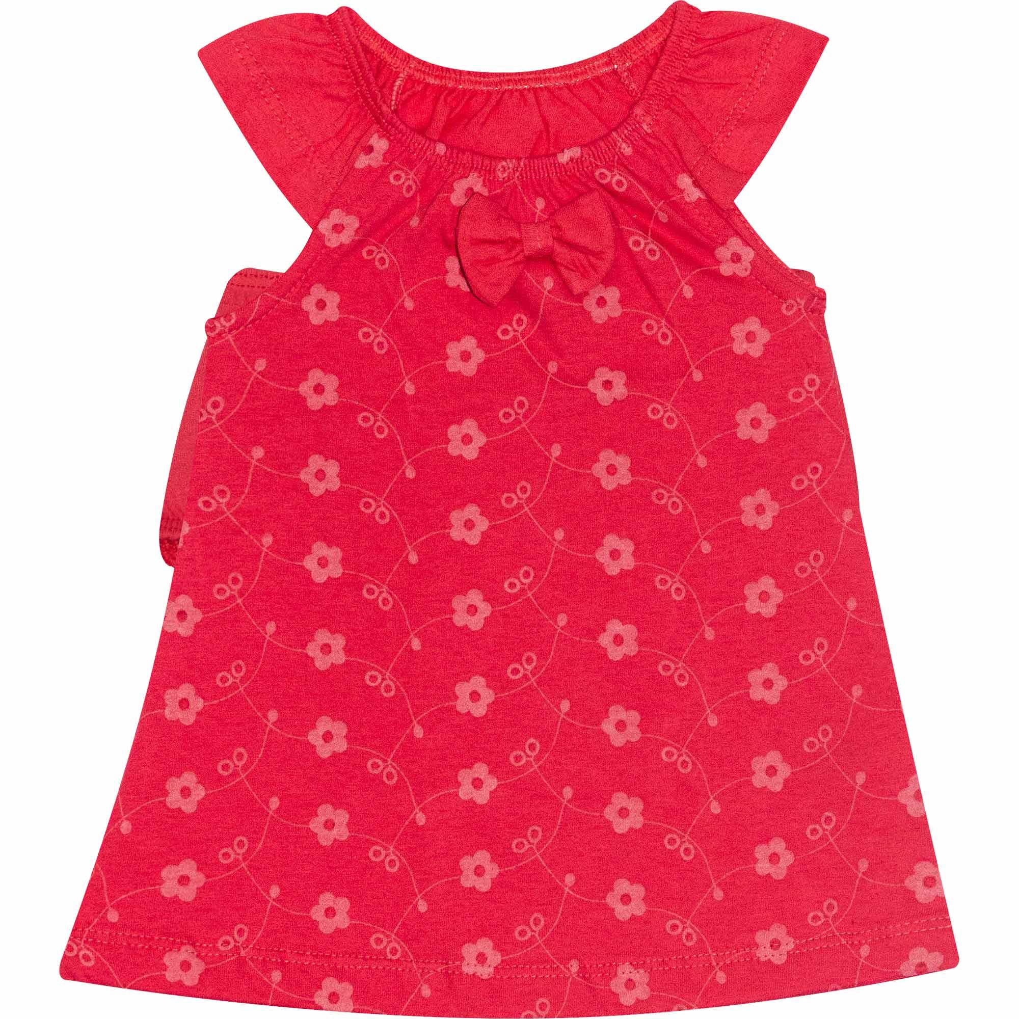 Conjunto Vestido Infantil Feminino  - Ref 4689 - Rosa- Andritex