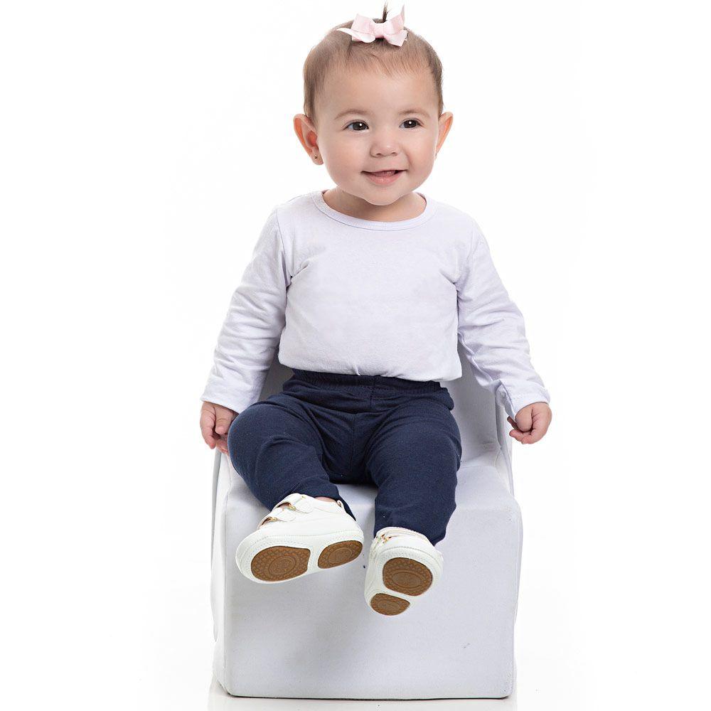 Legging Infantil Feminina Pimentinha Kids Azul Marinho