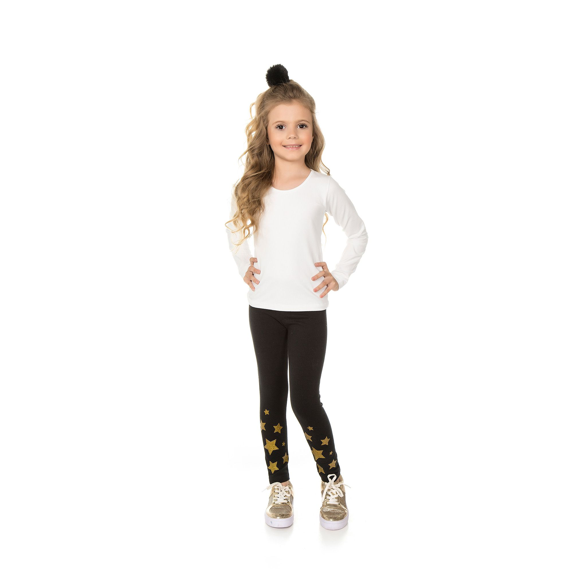 Legging Infantil Feminina - Ref 5009 - Preto