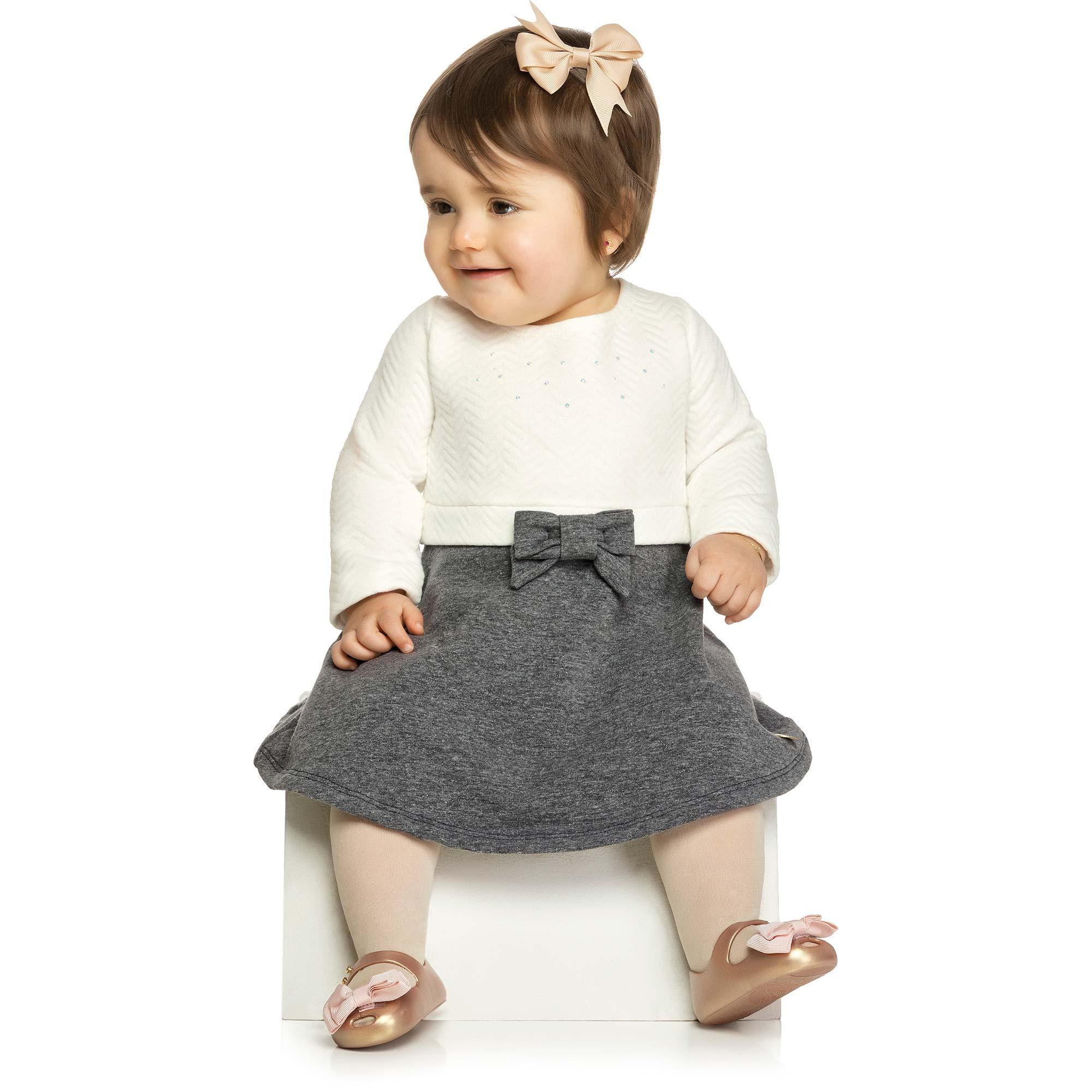 Vestido Infantil Elian Ref 21873 - Natural