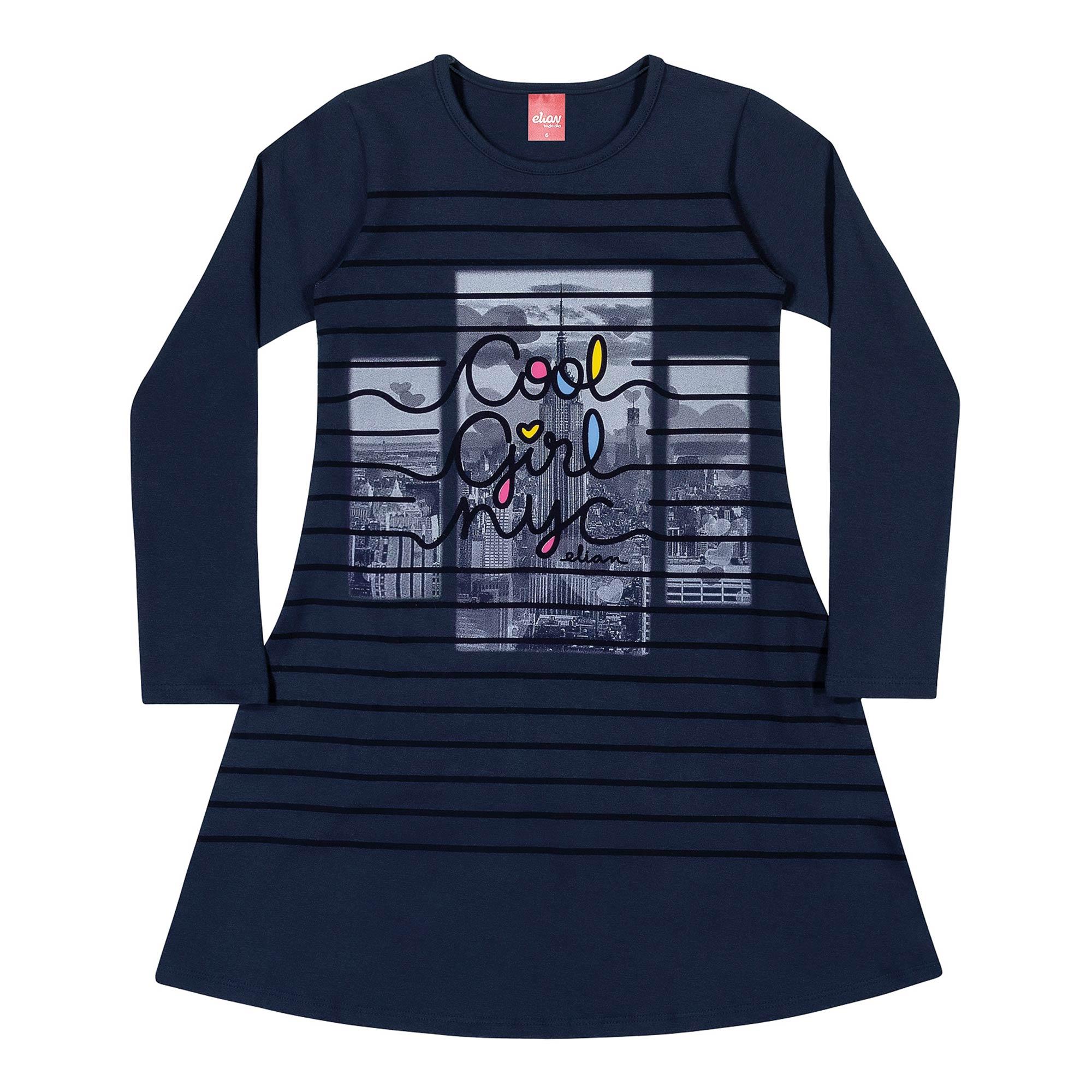 Vestido Infantil Elian - Ref 251165 - Marinho