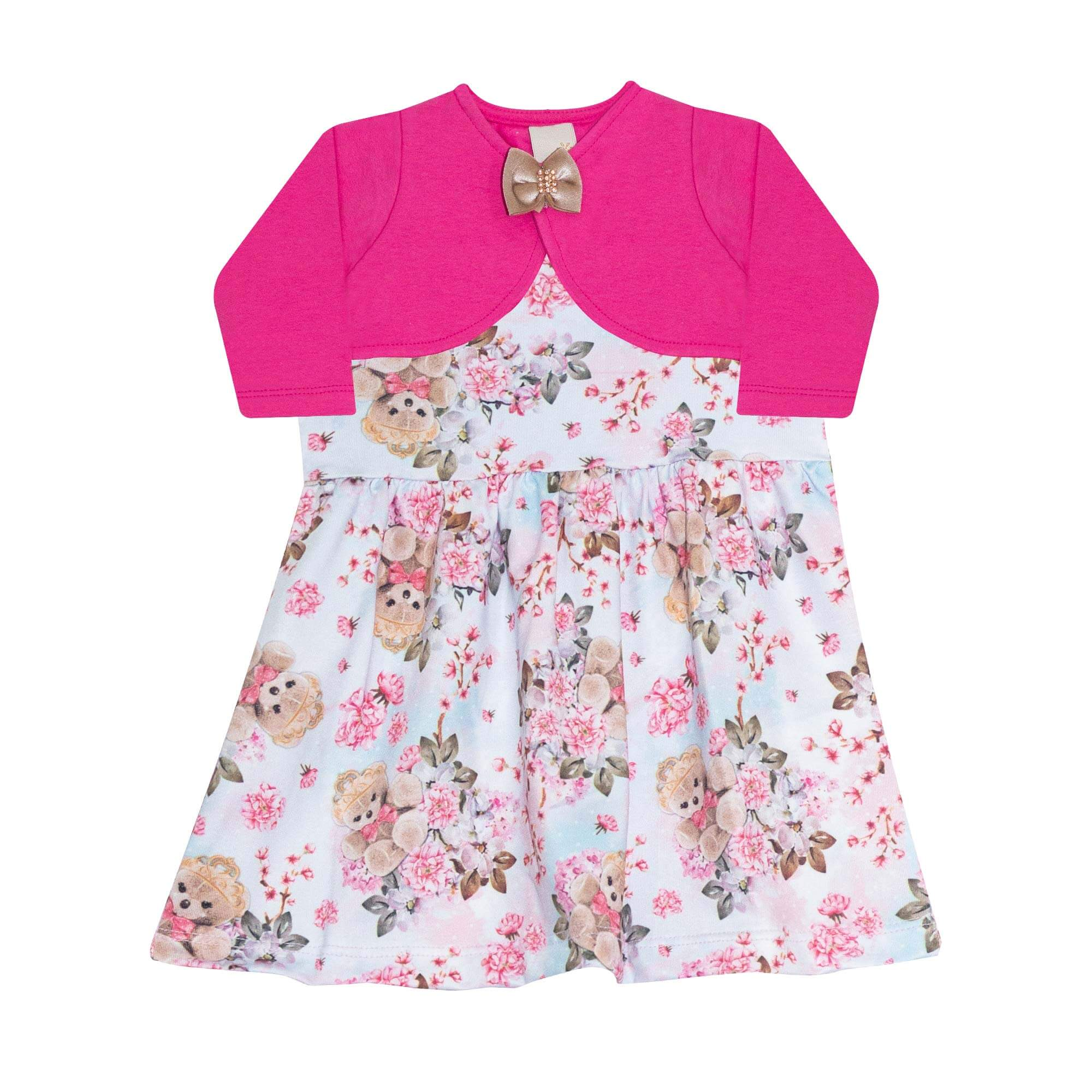 Vestido Infantil Feminino + Bolero - Ref 7441 - Pink - Ralakids