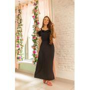 Vestido Maria Eduarda  preto