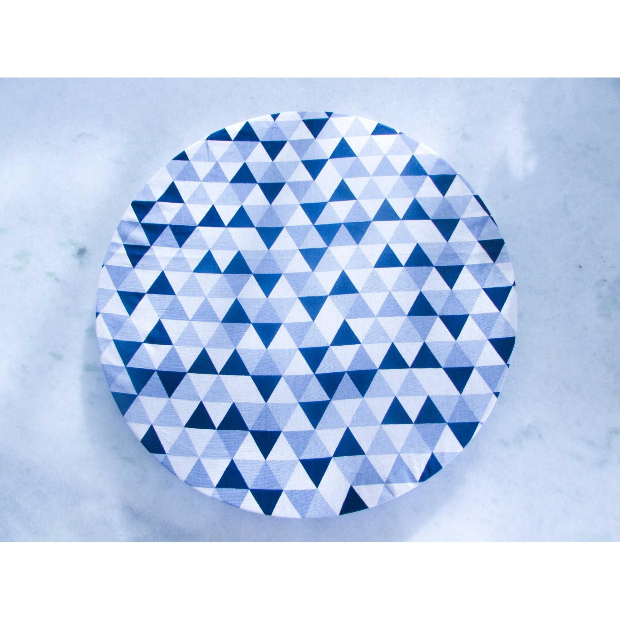 Capa de Sousplat Geometrico AZUL