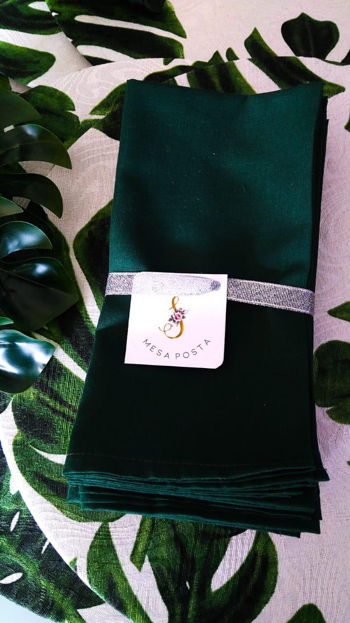 Guardanapo em tecido 100% algodão  Guardanapo Maison Basic Verde