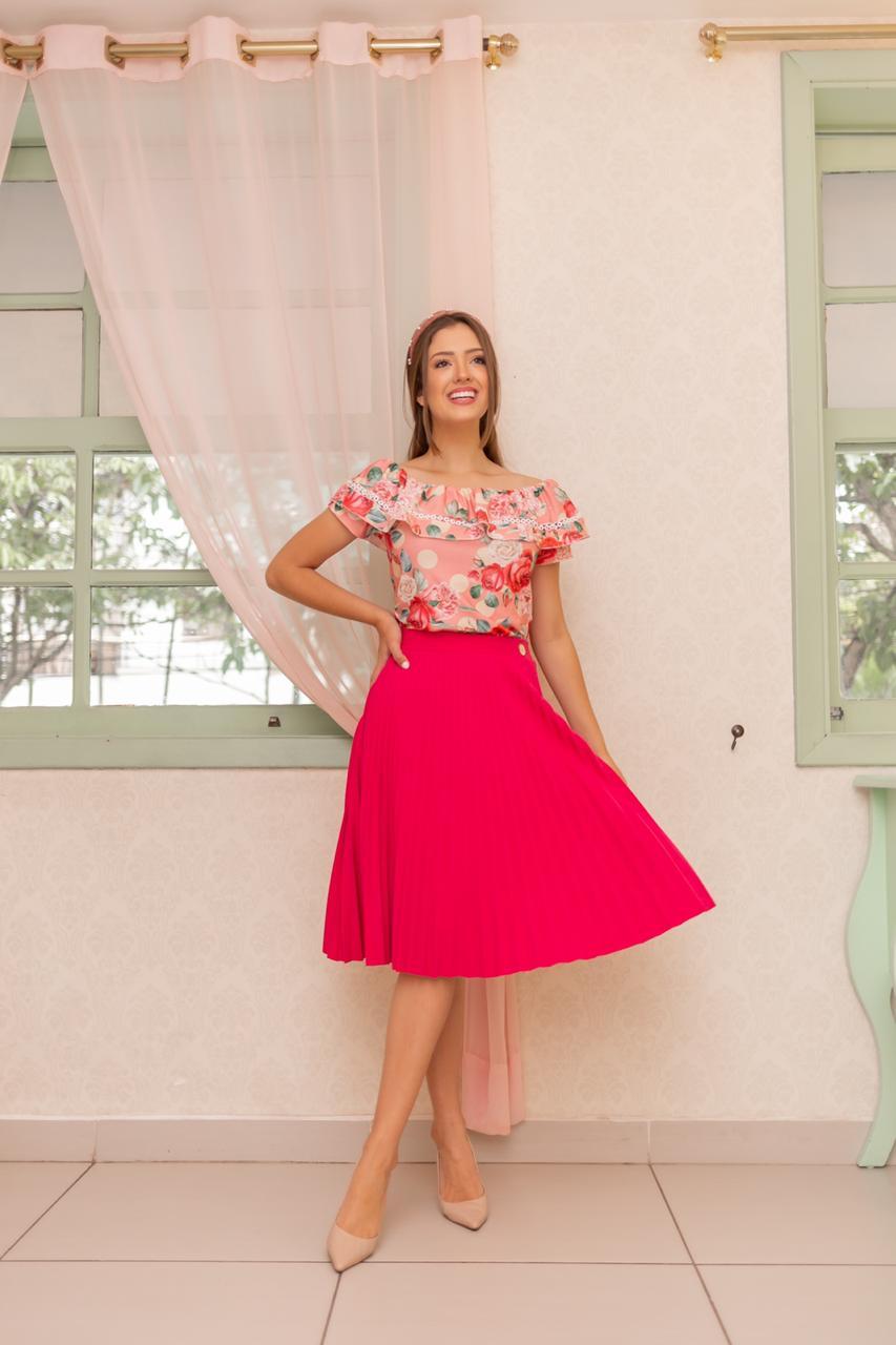 Saia Cecília  pink