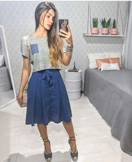 Saia Keliane Azul