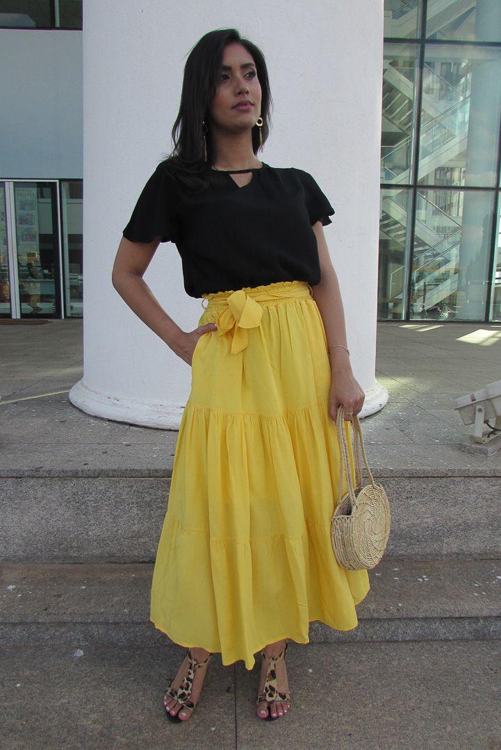 Saia Olívia (cor amarela)